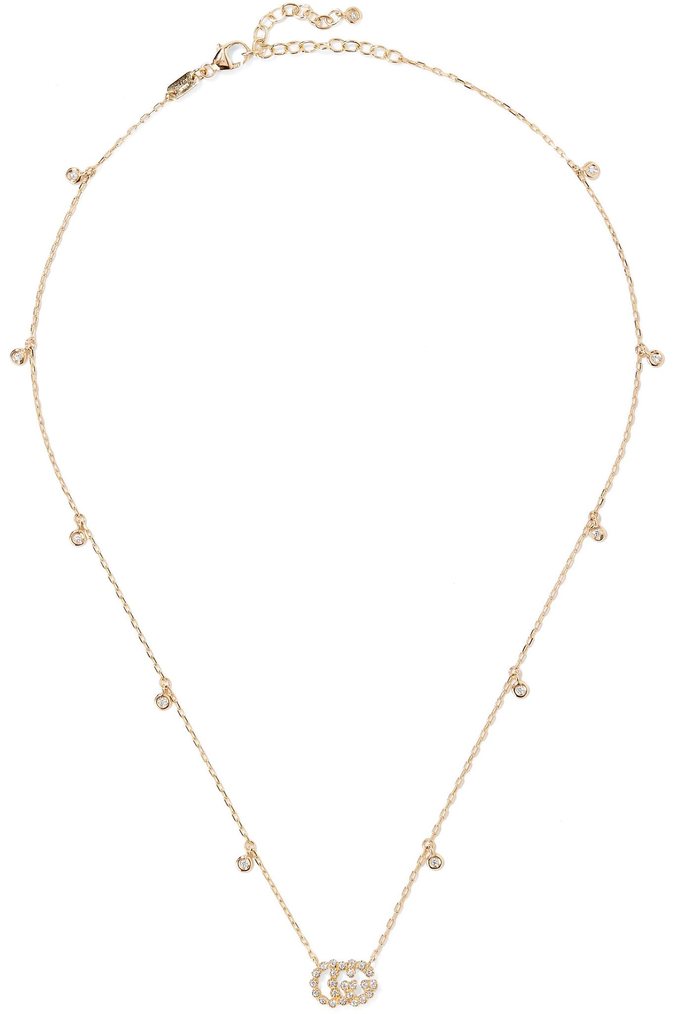 Gucci 18-karat Gold, Bone And Resin Necklace