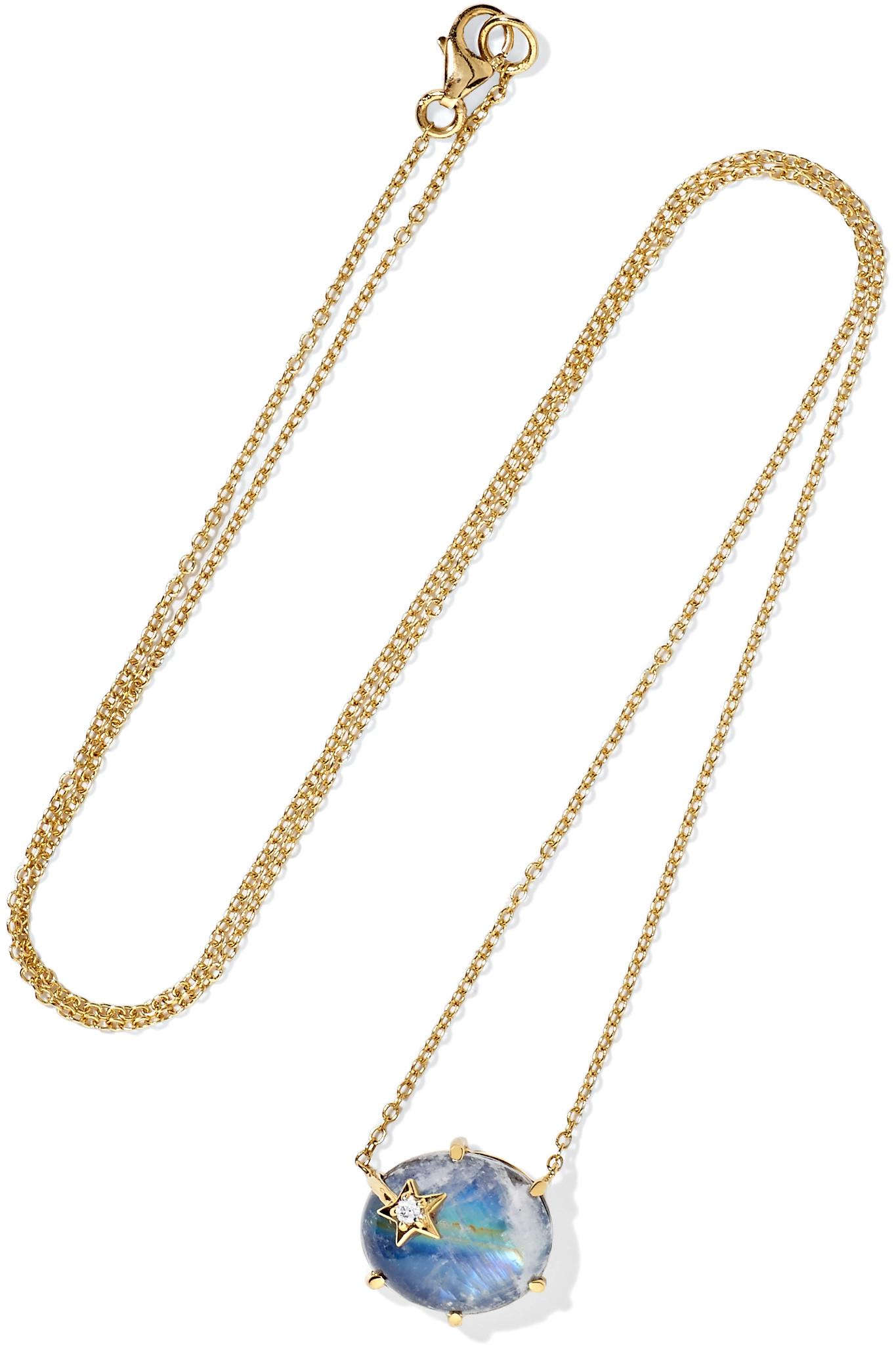 Andrea Fohrman Mini Galaxy 18-karat Rose Gold Multi-stone Necklace il6CJQc