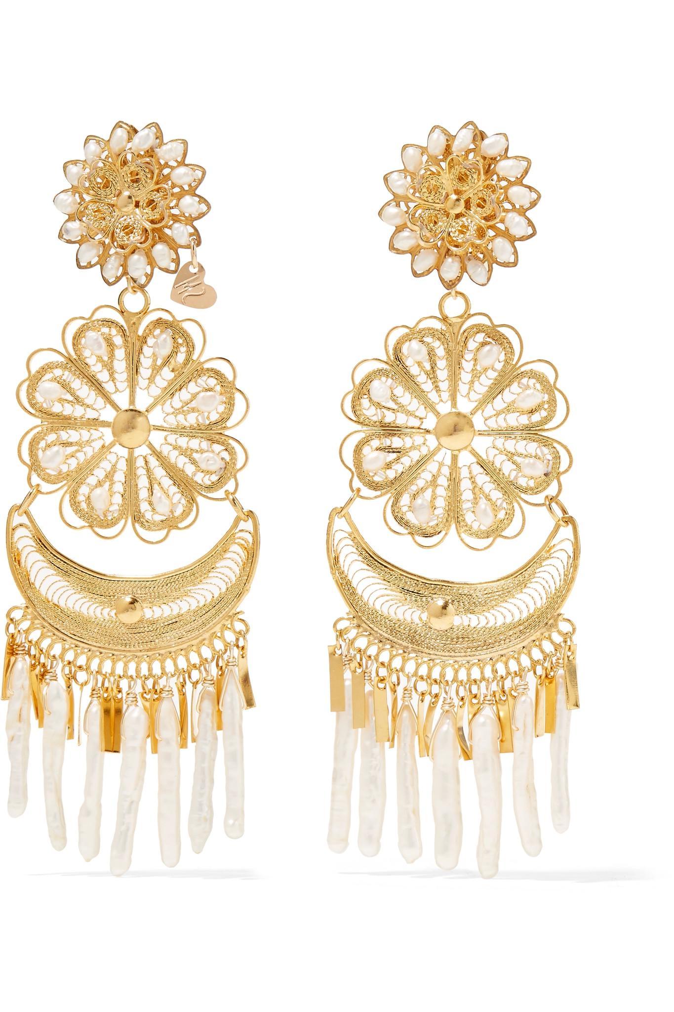 Femme Gold-Tone Raffia Earrings Mercedes Salazar tPHz2