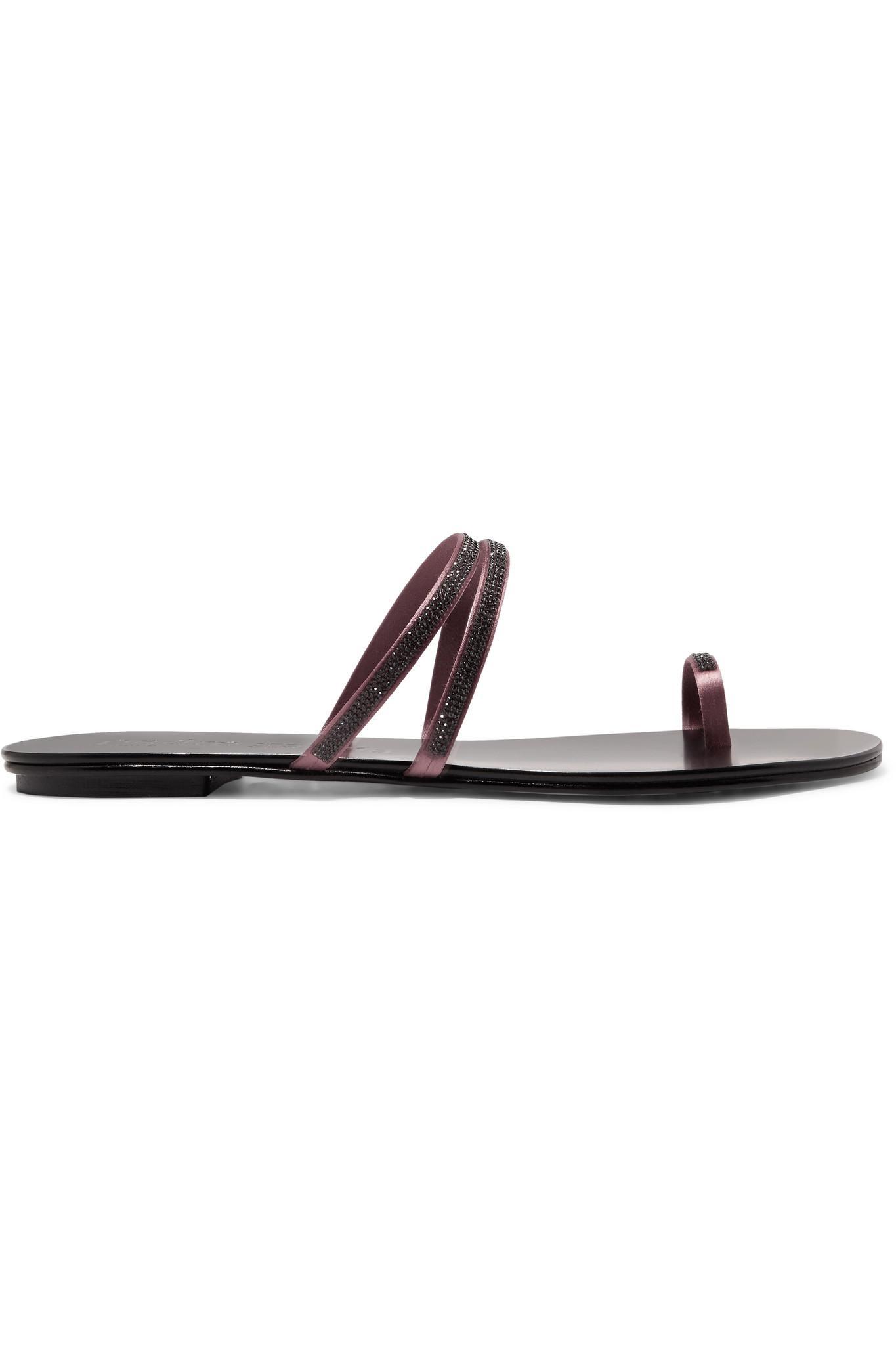 9c49c15fb33b Pedro Garcia. Women s Black Sula Swarovski Crystal-embellished Satin And Leather  Sandals