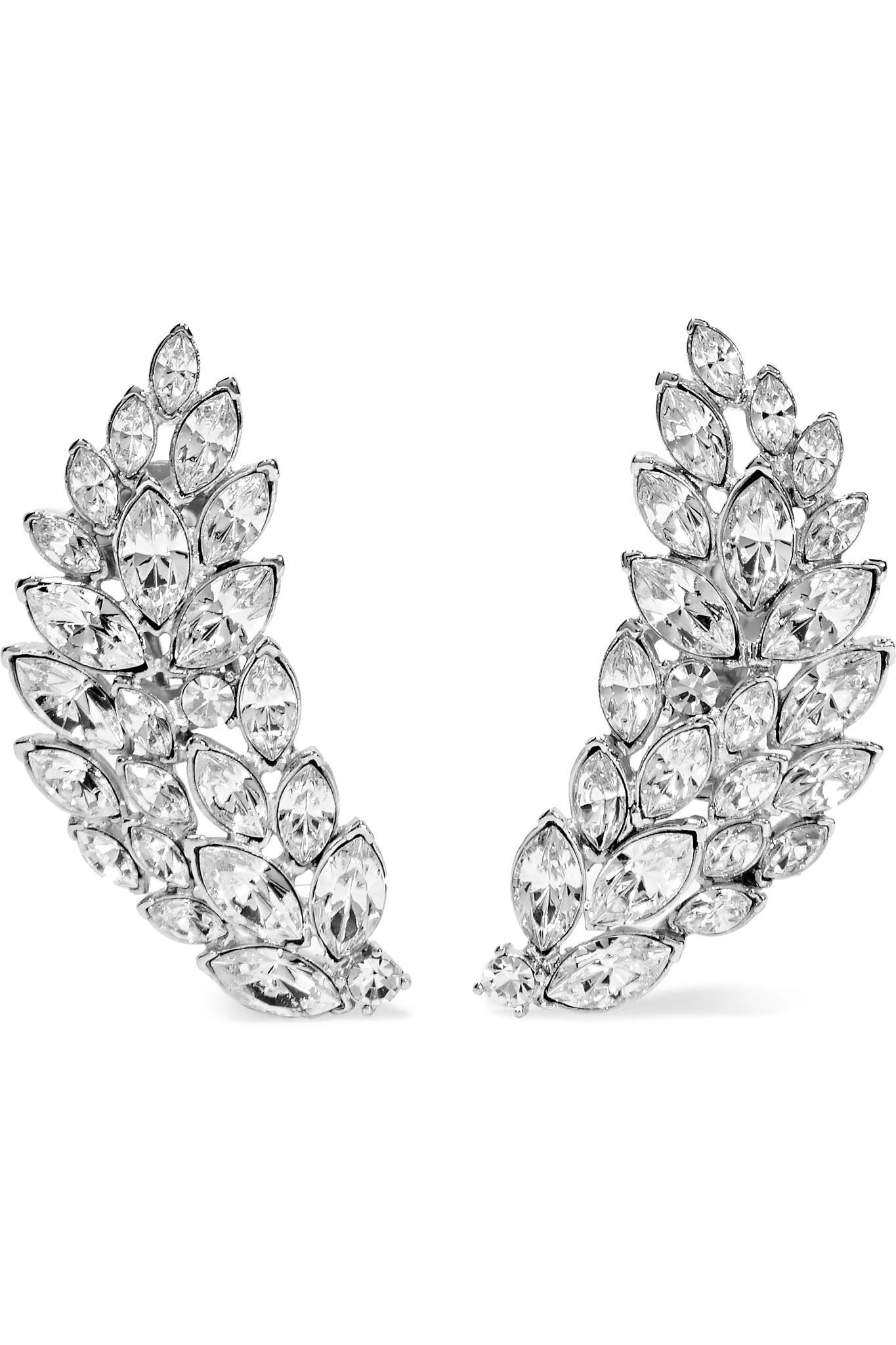 Kenneth Jay Lane Silver Crystal Chandelier Clip Earrings Silver/crystal xZiUXwwMK