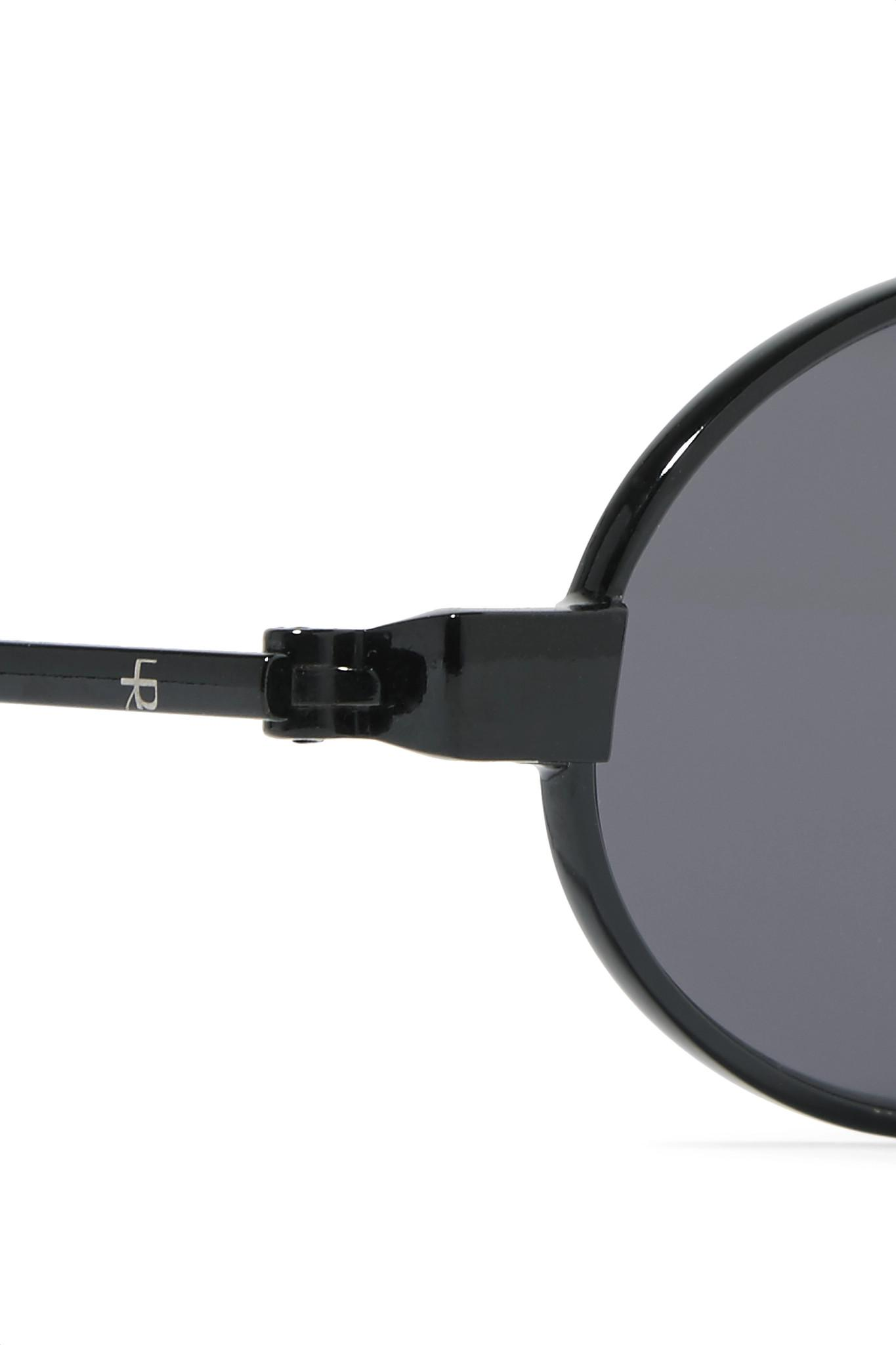 ROBERI AND FRAUD Doris Oval-frame Stainless Steel And Acetate Sunglasses in Black