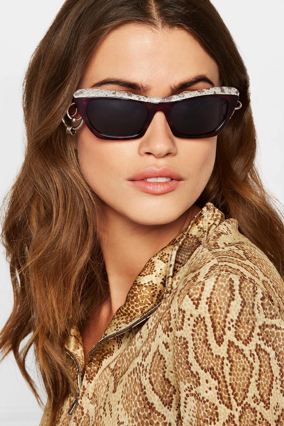Dielle cat-eye leather and acetate sunglasses Acne Studios qbuGl