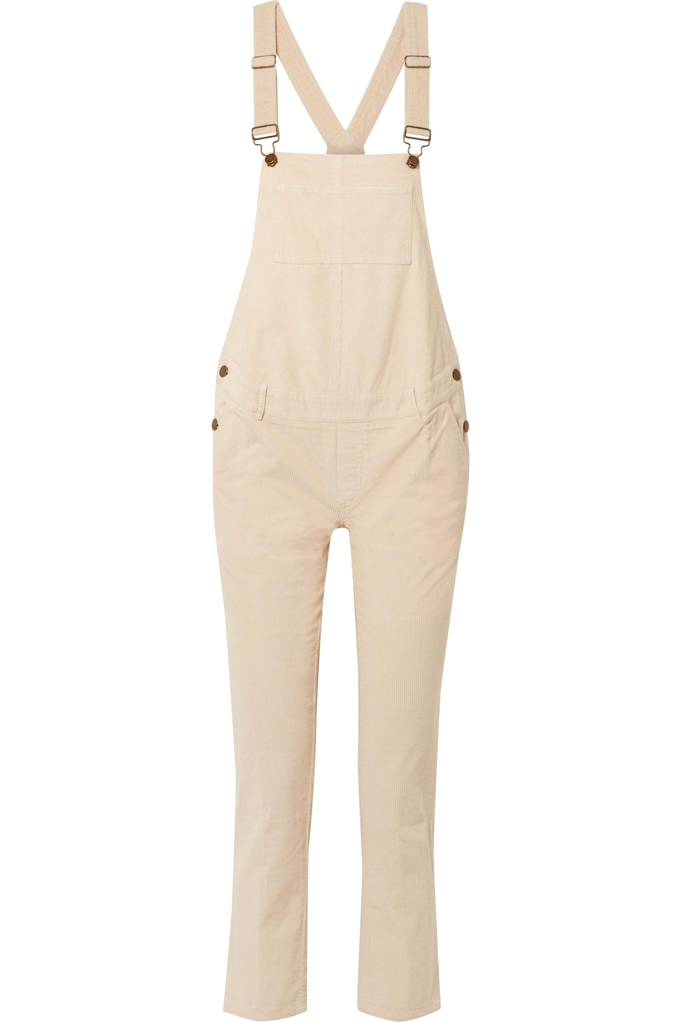 513505c6cd2a Hatch The Cord Cotton-blend Corduroy Overalls in White - Lyst