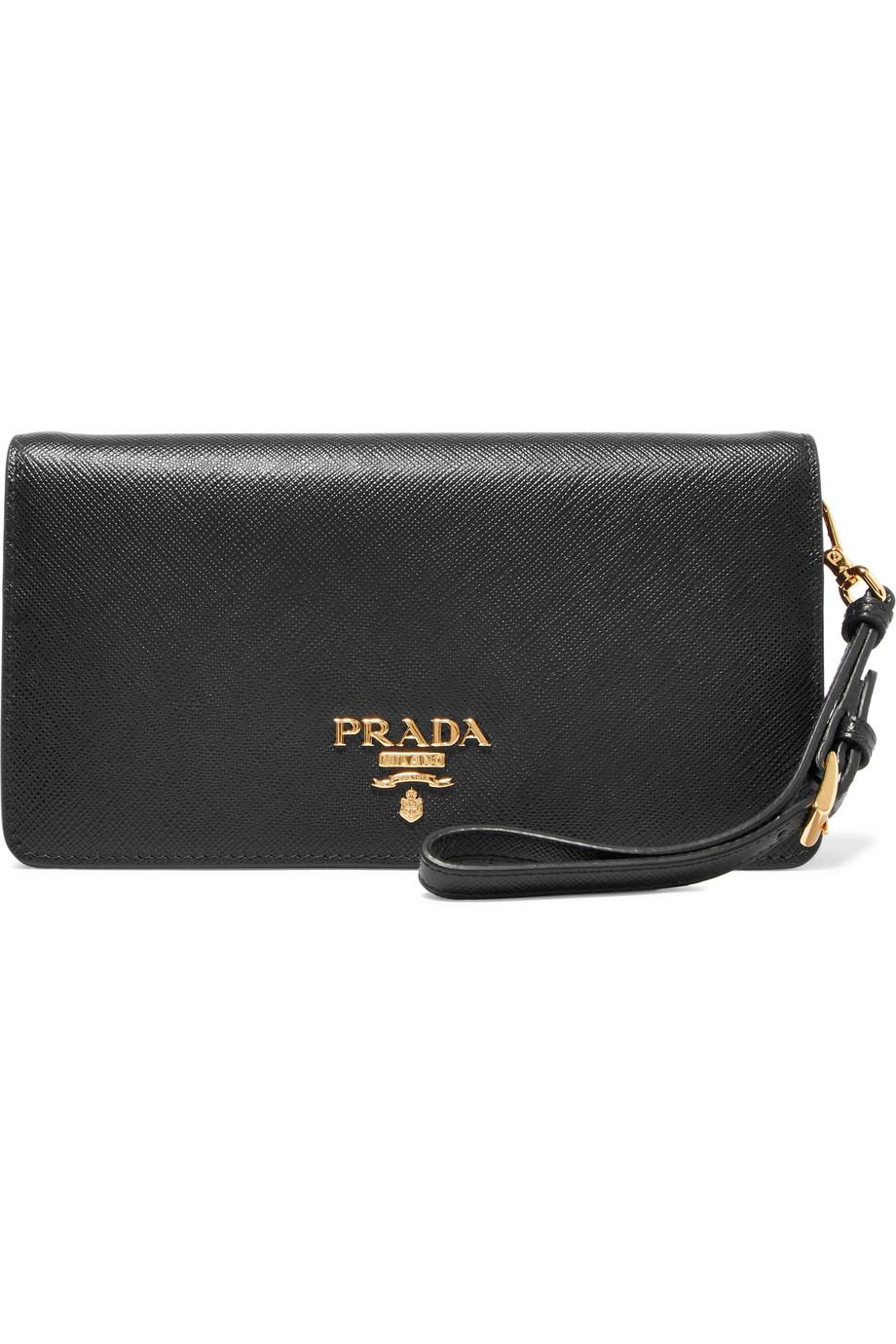 02779ab73e47 ... buy prada black textured leather shoulder bag lyst. view fullscreen  a1f46 883e0