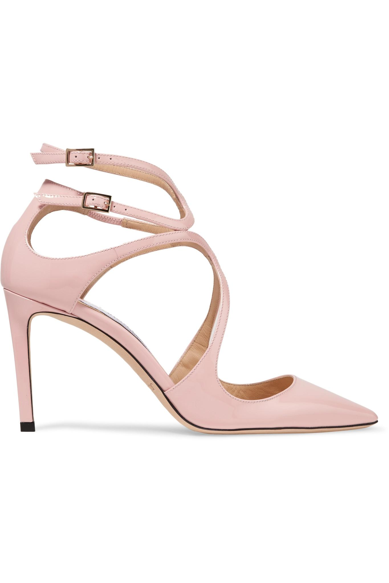 0265f553397 ... order jimmy choo lancer 85 patent leather pumps in pink lyst fd673 a3fbc