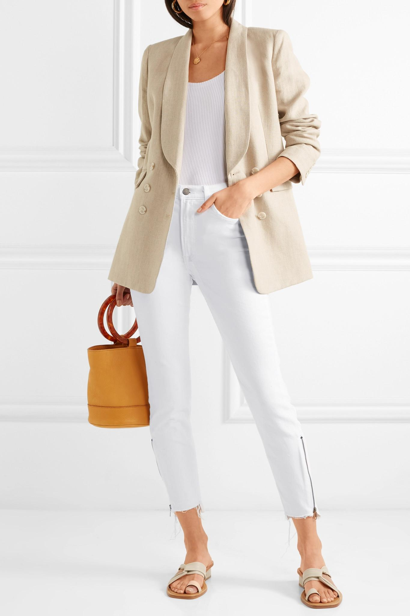 Kendall White Rise Lyst Distressed Skinny High Grlfrnd Jeans HaBx57w7 829461cbb97