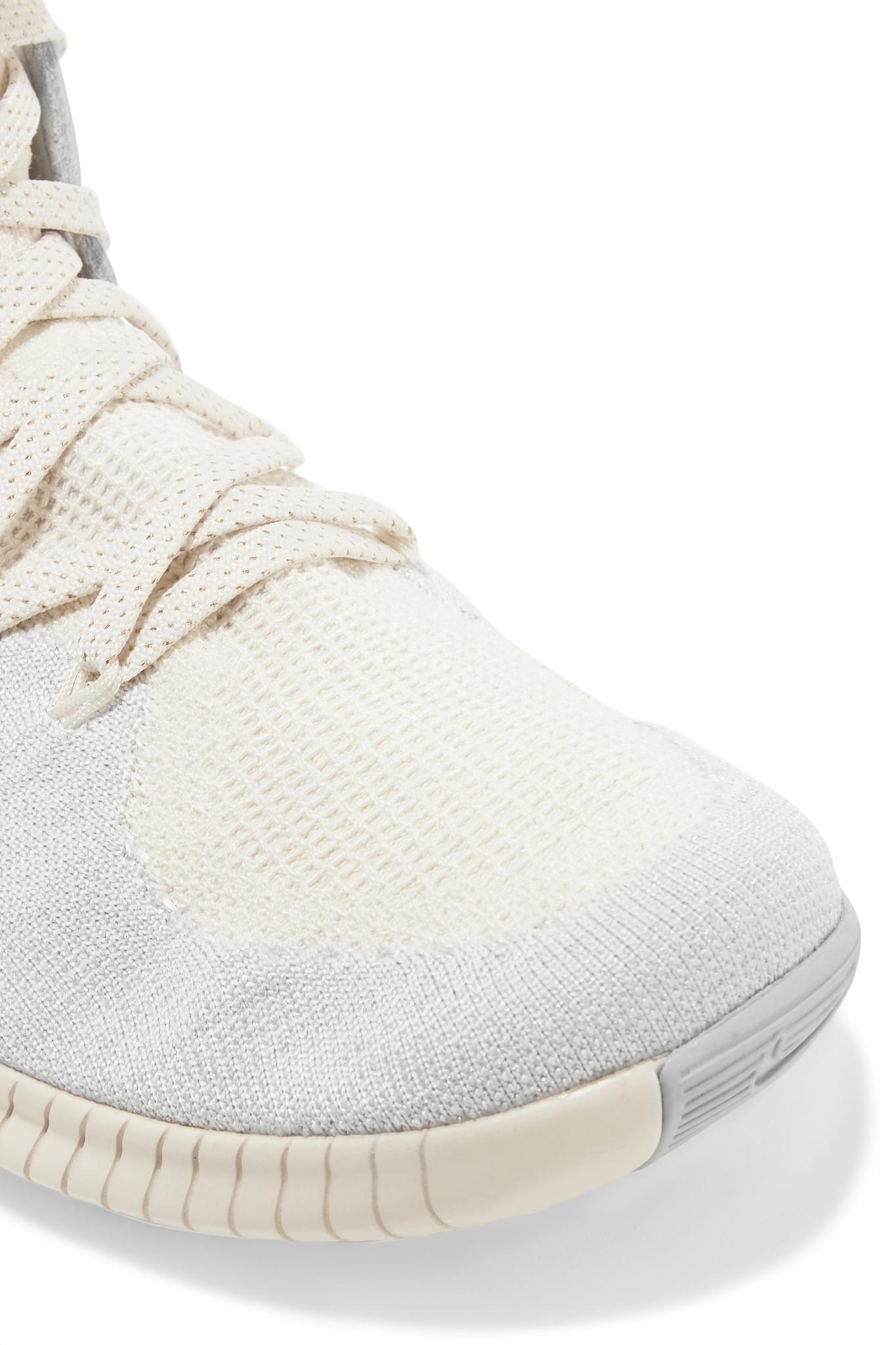 6cbcaa1653f4 Nike - Multicolor Free Tr 3 Champagne Crinkled Leather-trimmed Flyknit  Sneakers - Lyst. View fullscreen