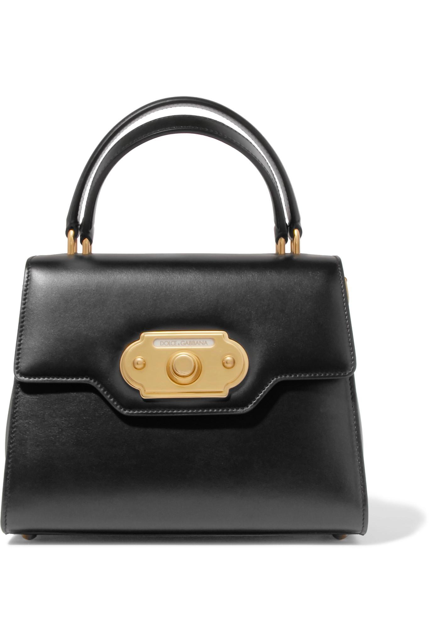 black Welcome medium leather tote Dolce & Gabbana lw8Lhv