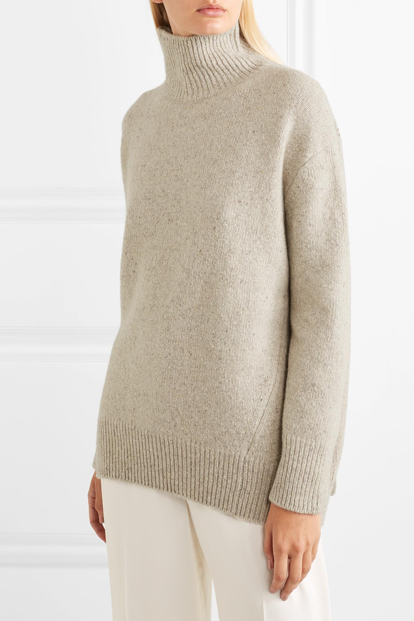 0c110e1570e24 Lyst - Vince Oversized Cashmere Turtleneck Sweater in Natural