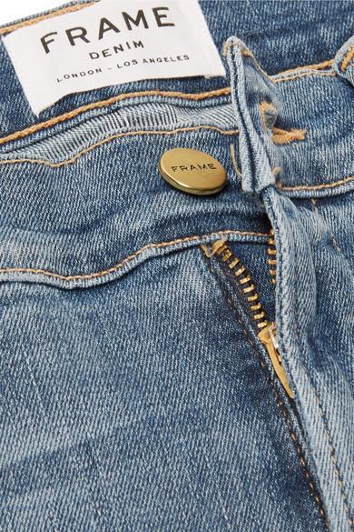 FRAME Denim Le High Halbhohe Jeans Mit Verkürztem Schmalem Bein in Blau uBCNz