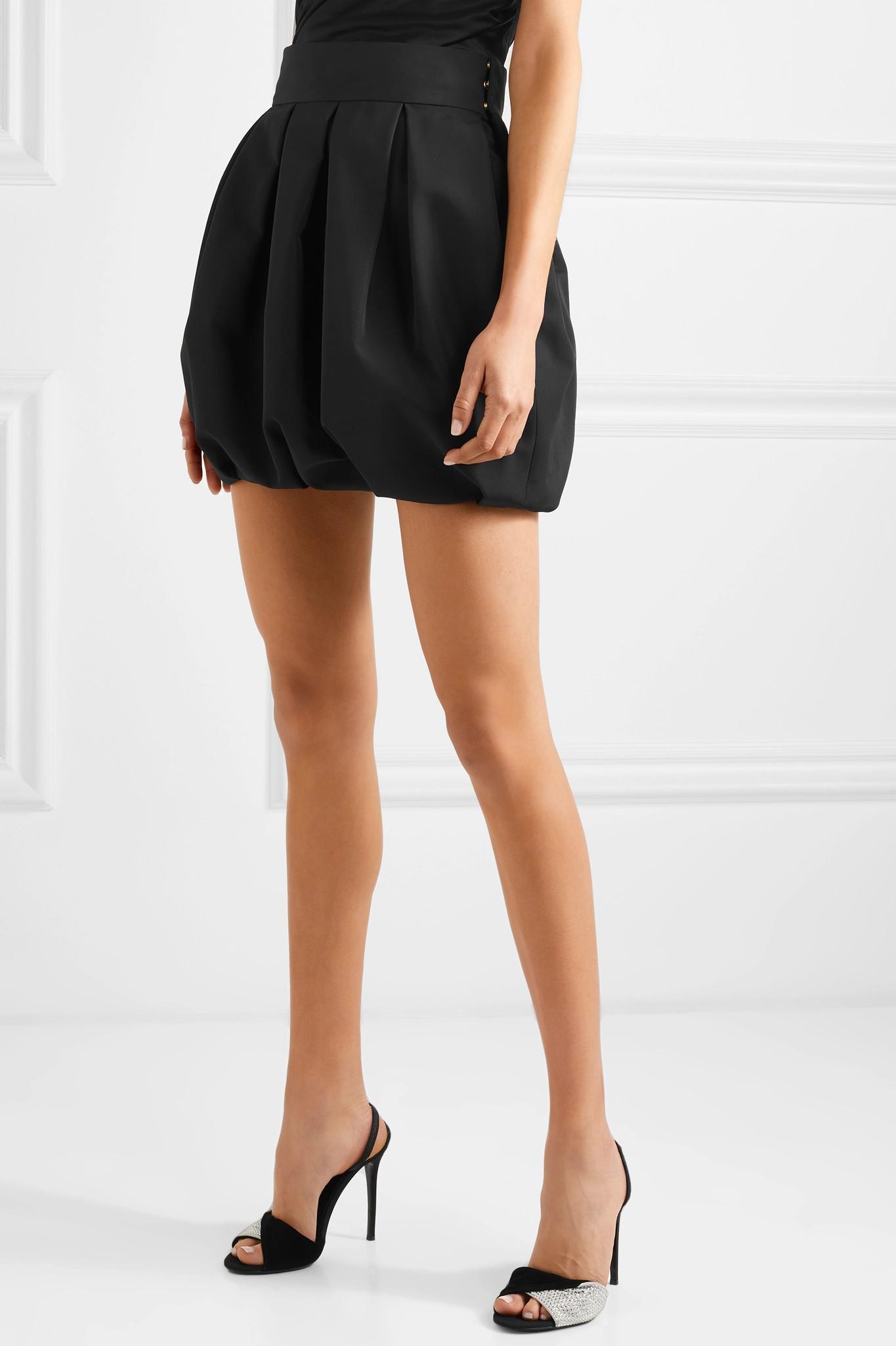 3637044d Alexandre Vauthier - Black Faille Mini Skirt - Lyst. View fullscreen
