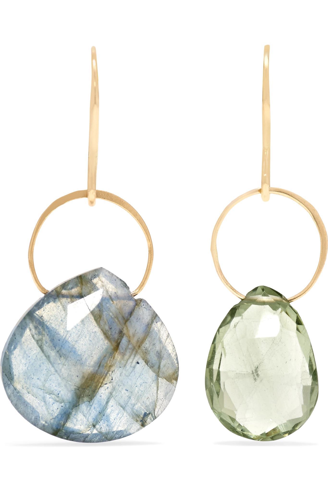 Melissa Joy Manning 14-karat Gold Labradorite Earrings N5asLo