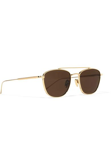 Sunday Somewhere Romeo Aviator-style Gold-tone Sunglasses in Metallic