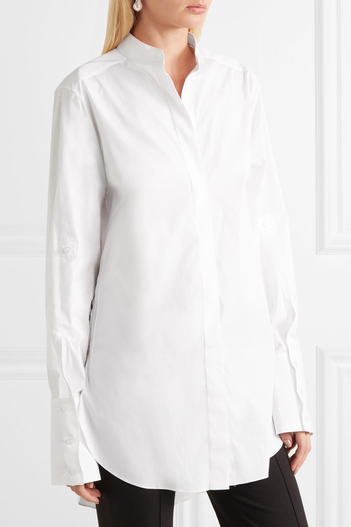 b071eae0e243 oscar-de-la-renta-white-Oversized-Cotton-poplin-Shirt.jpeg