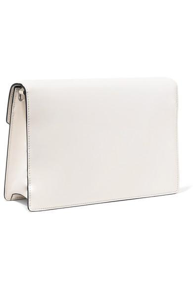 4ac693576558 Prada Logo Liberty Leather Shoulder Bag in White - Lyst