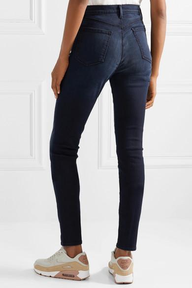 "J Brand Denim Carolina 32"" High-rise Skinny Jeans in Dark Denim (Blue)"