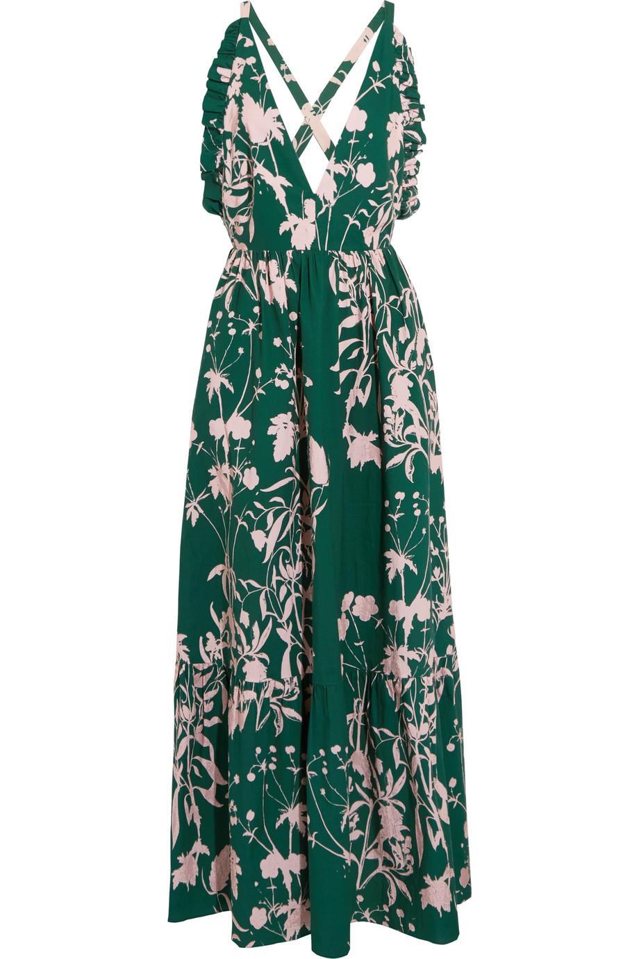 Eugenia Crepe Long Sleeve Midi Dress Borgo De Nor Outlet 2018 New spG4VolFfd
