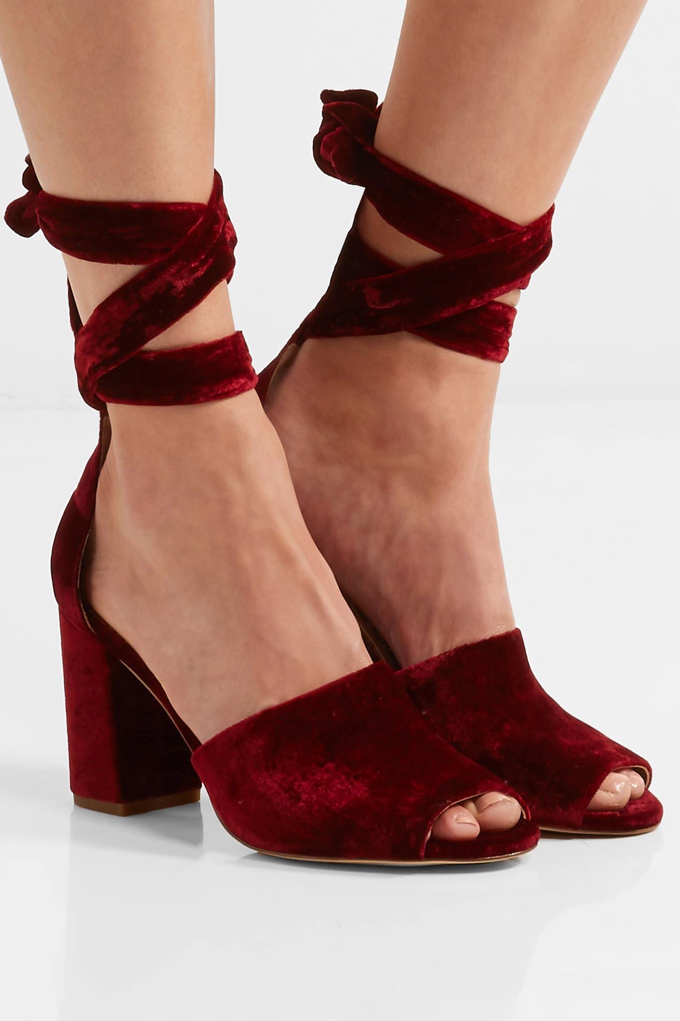 7c07c0b4e981ff Lyst - Sam Edelman Odele Velvet Sandals in Red