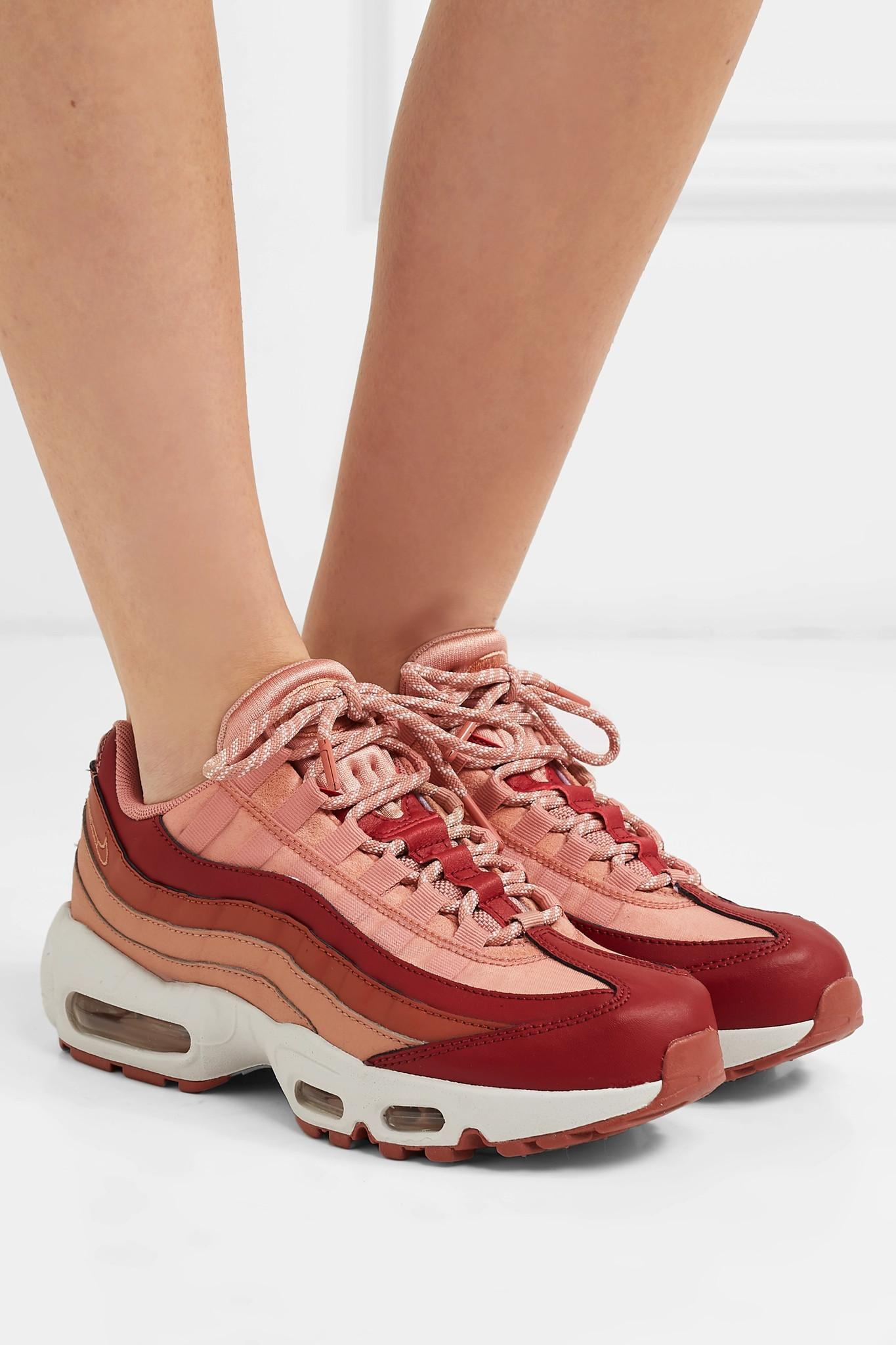 fac64e91b1 Nike - Multicolor Air Max 95 Suede And Leather Sneakers - Lyst. View  fullscreen