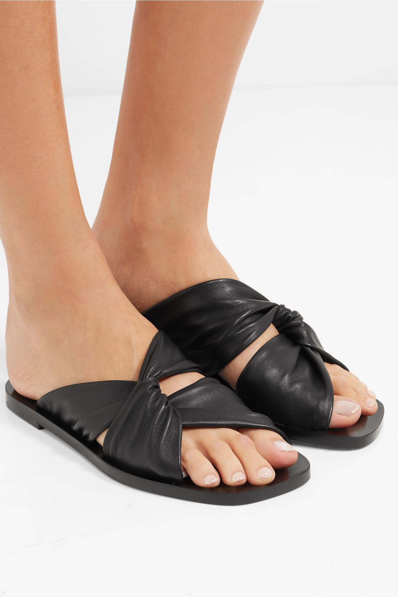 Proenza Schouler Knotted Leather Slides Outlet Manchester Great Sale Manchester Great Sale For Sale Buy Cheap Recommend New Arrival gChSpG4e