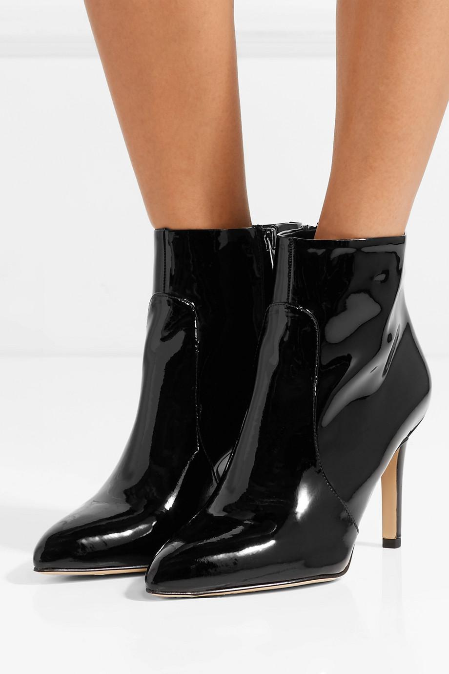 0652426d5905f7 Lyst - Sam Edelman Olette Patent-leather Ankle Boots in Black