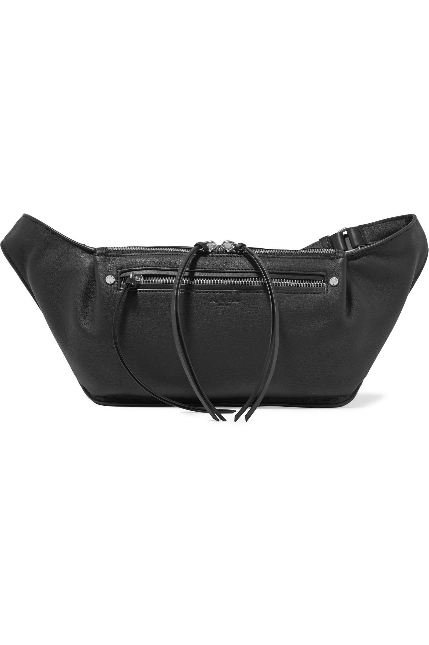 2e9036f17e18 Rag   Bone Ellis Large Textured-leather Belt Bag in Black - Lyst