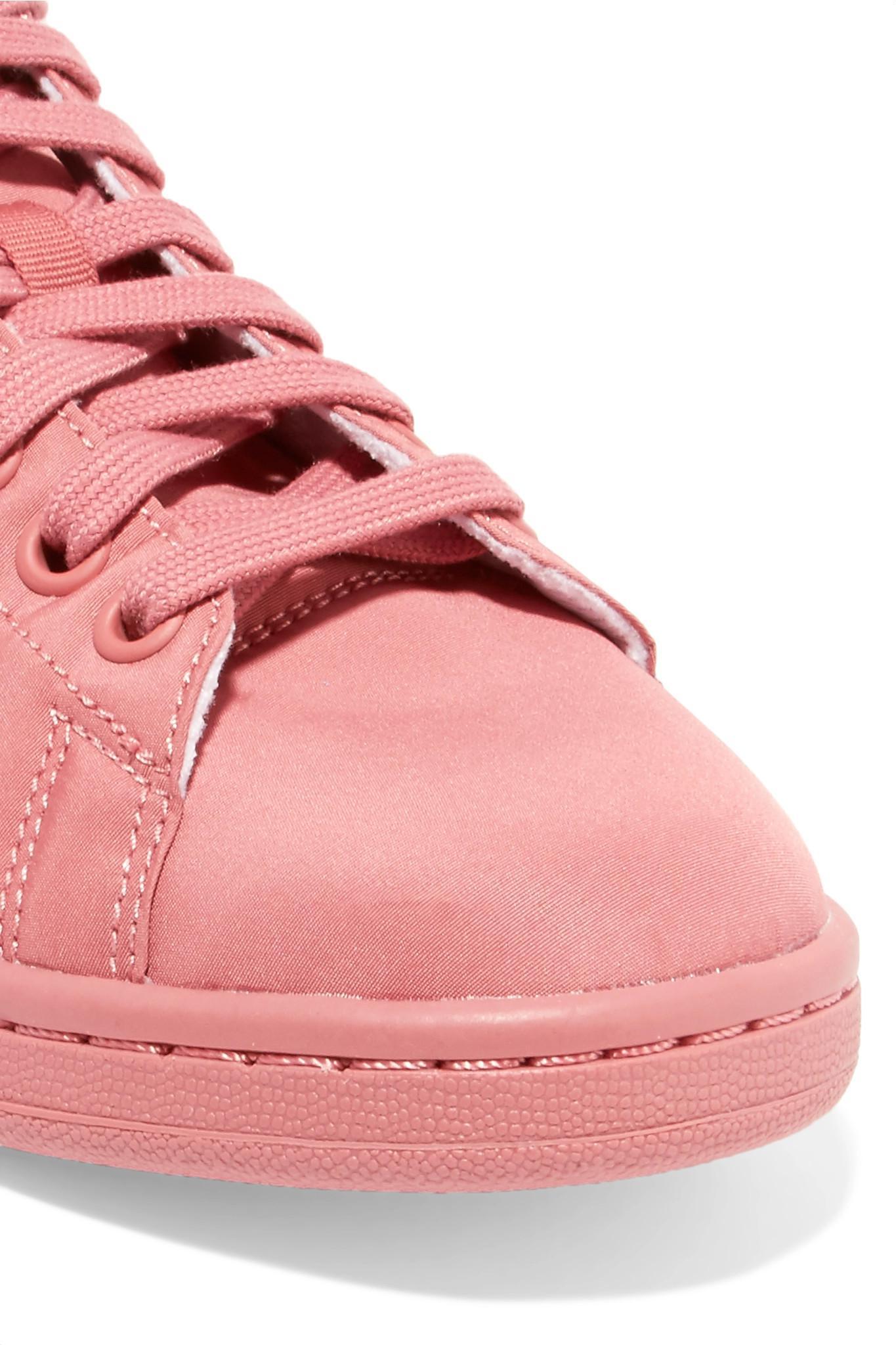 adidas Originals Suede-trimmed Sateen Sneakers in Pink