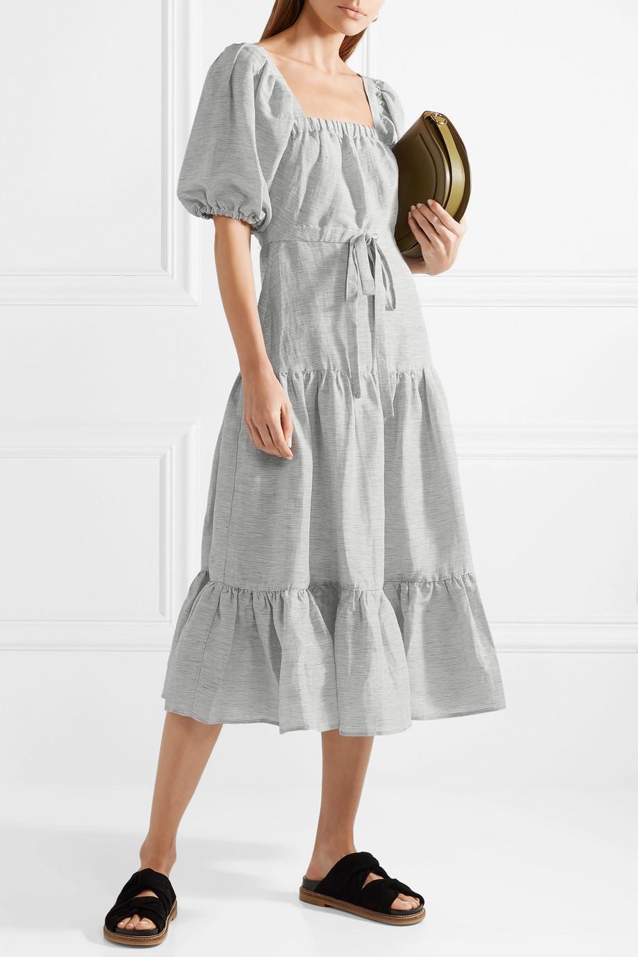 8c820205bd4 co-storm-blue-Striped-Linen-And-Silk-blend-Midi-Dress.jpeg