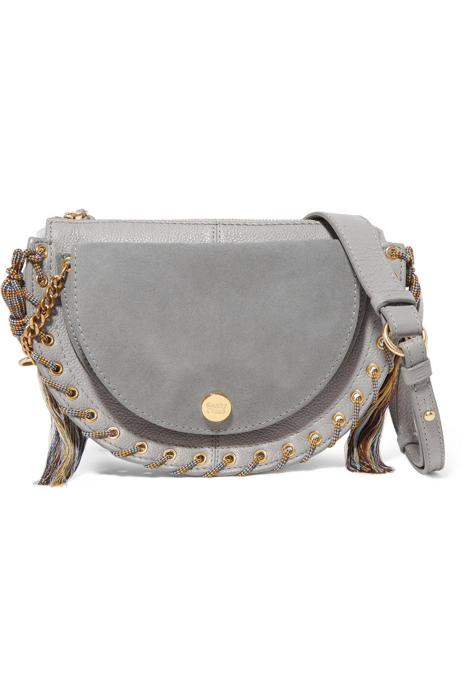 Kriss Mini Eyelet-embellished Textured-leather And Suede Shoulder Bag - Black See By Chloé Cheap Sale Marketable Sale Fashionable Buy Cheap For Cheap Perfect Sale Online Cheap Sale Best Sale NrUoqKDPTN