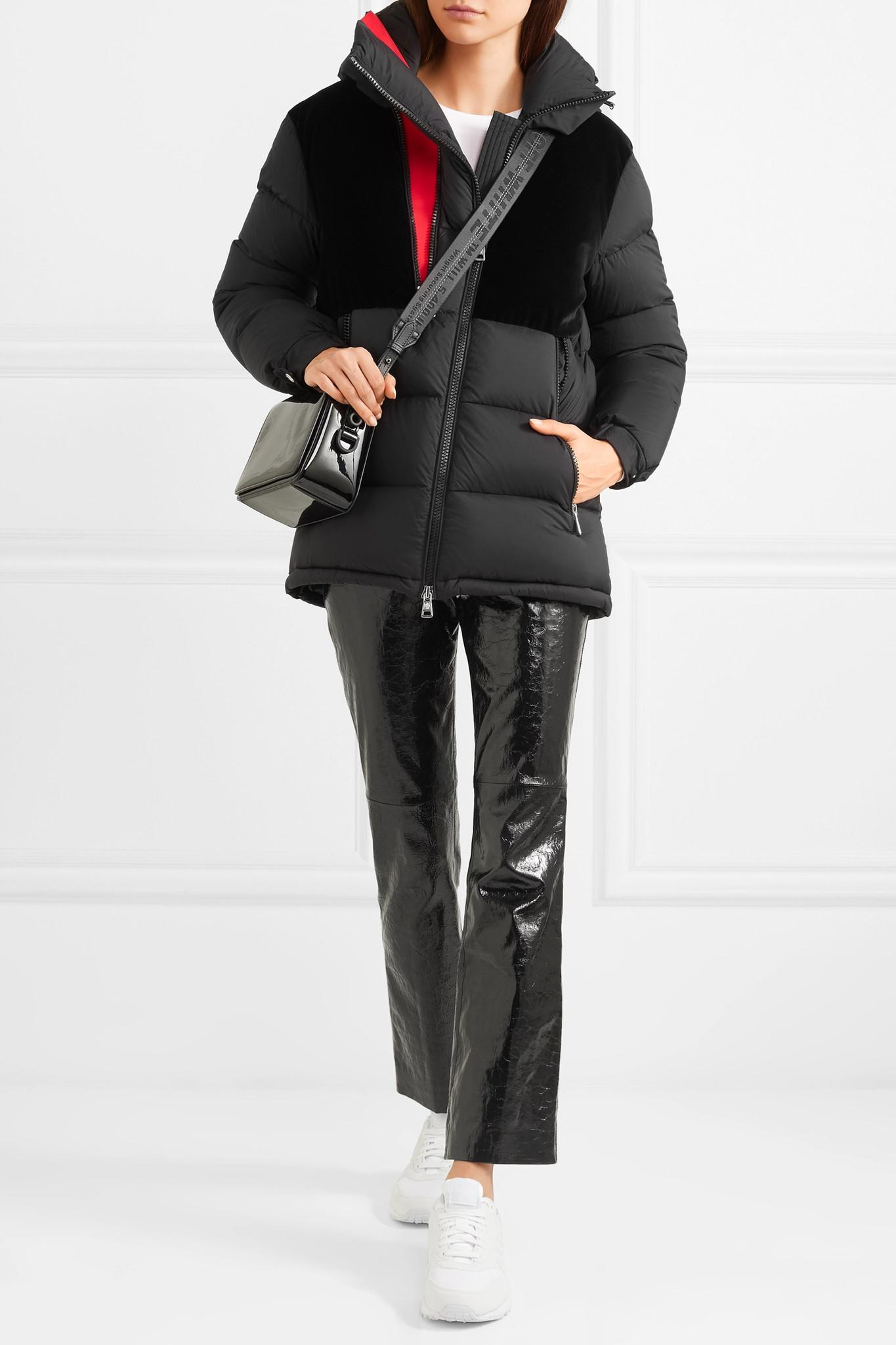 a1dc217fb Lyst - Moncler Hooded Velvet-paneled Quilted Shell Down Jacket in Black