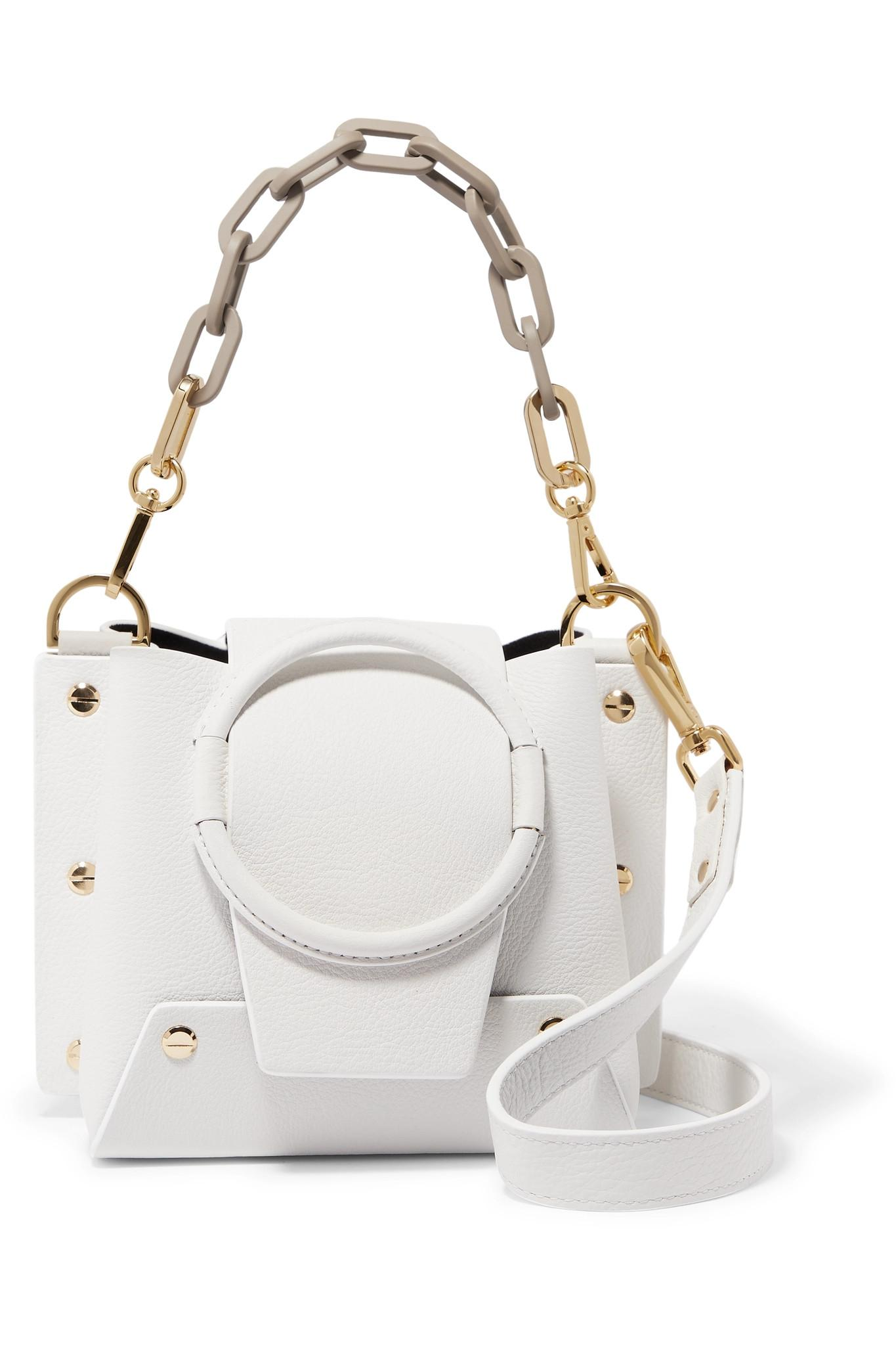 055bf5b381 Lyst - Yuzefi Delila Mini Textured-leather Shoulder Bag in White ...
