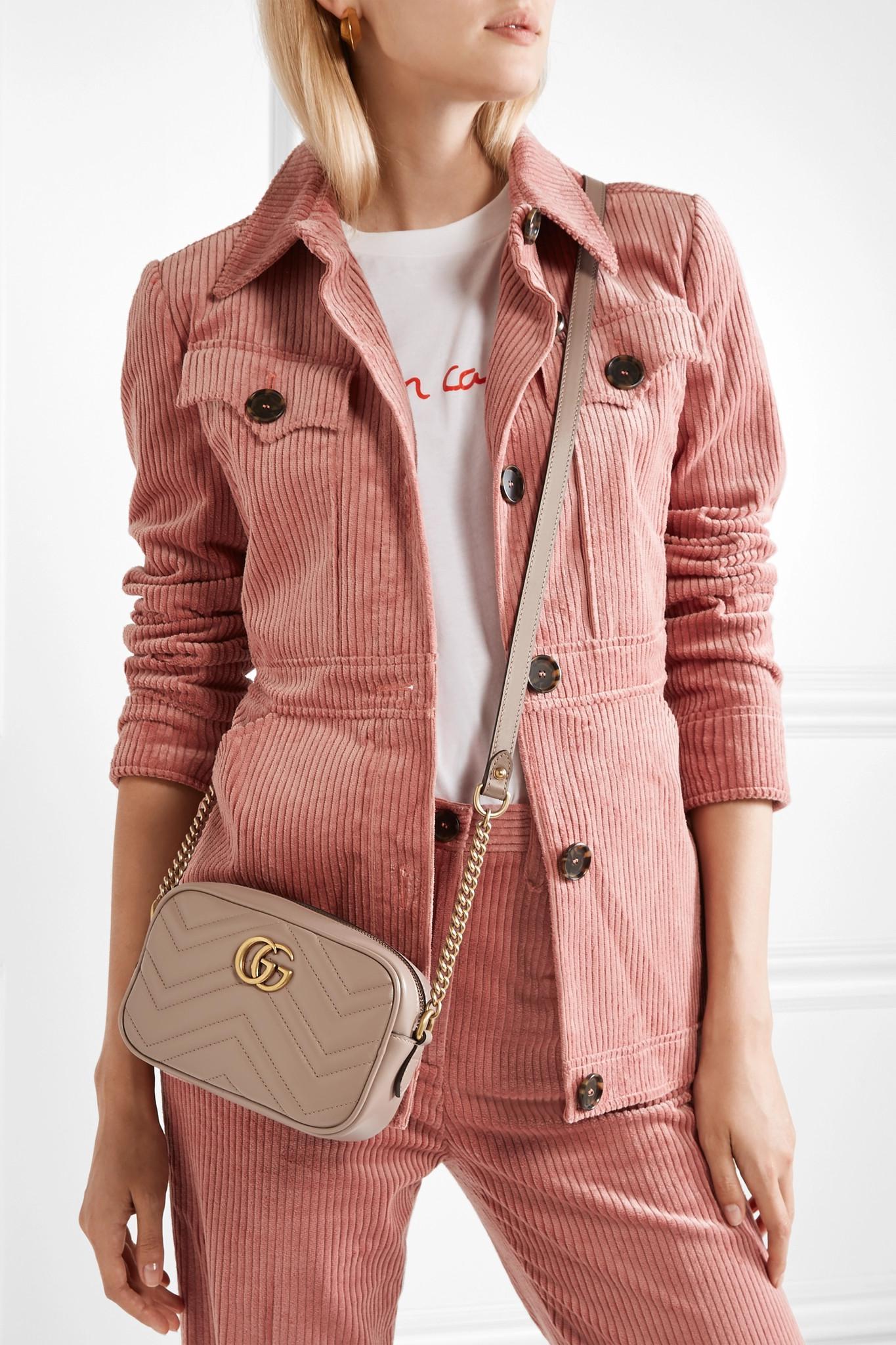2d682d4f0e9c1d Gucci - Multicolor Gg Marmont Camera Mini Quilted Leather Shoulder Bag -  Lyst. View fullscreen