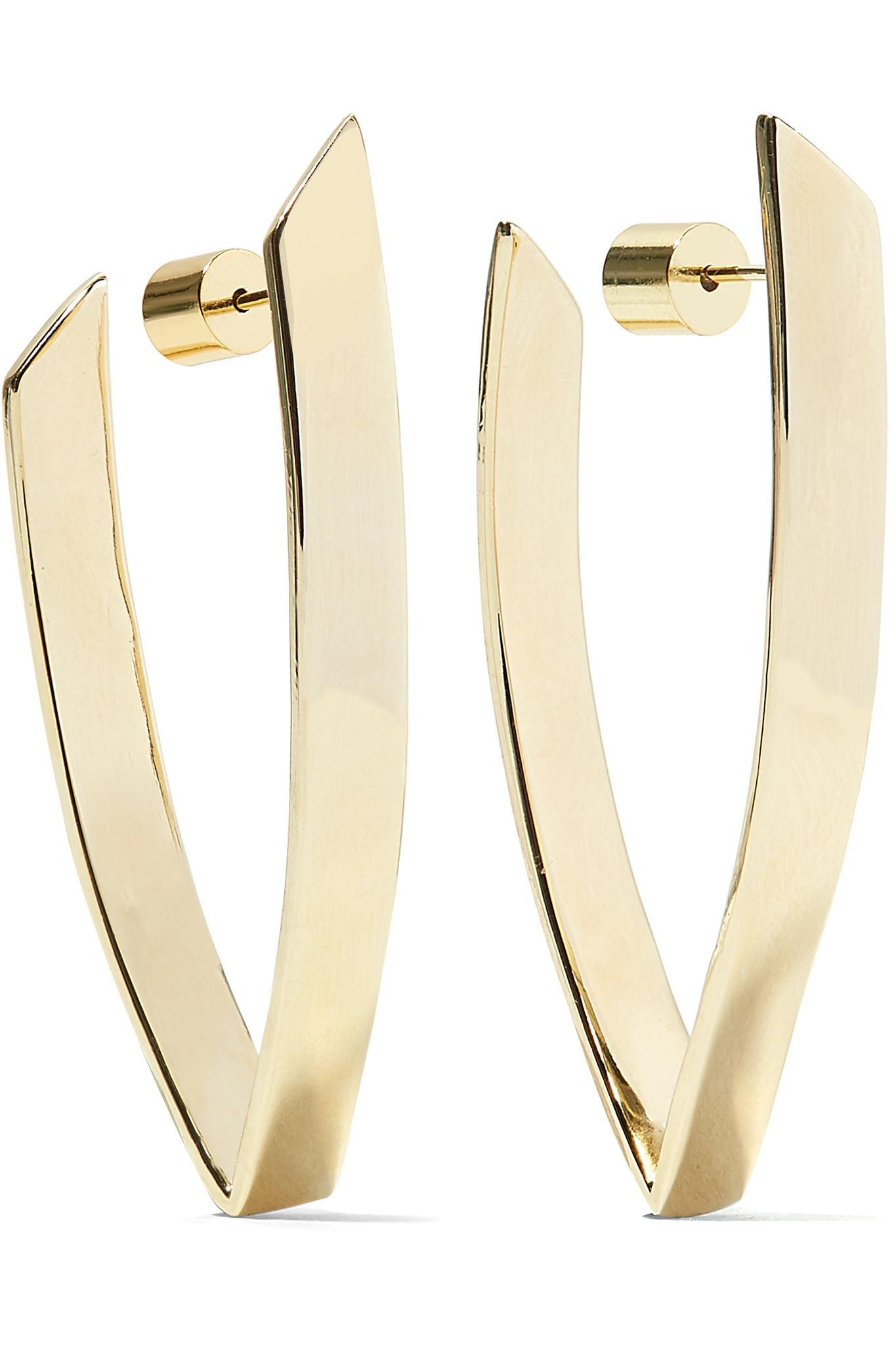 Jennifer Fisher Pod Huggie Gold-plated Hoop Earrings 9yqETZS