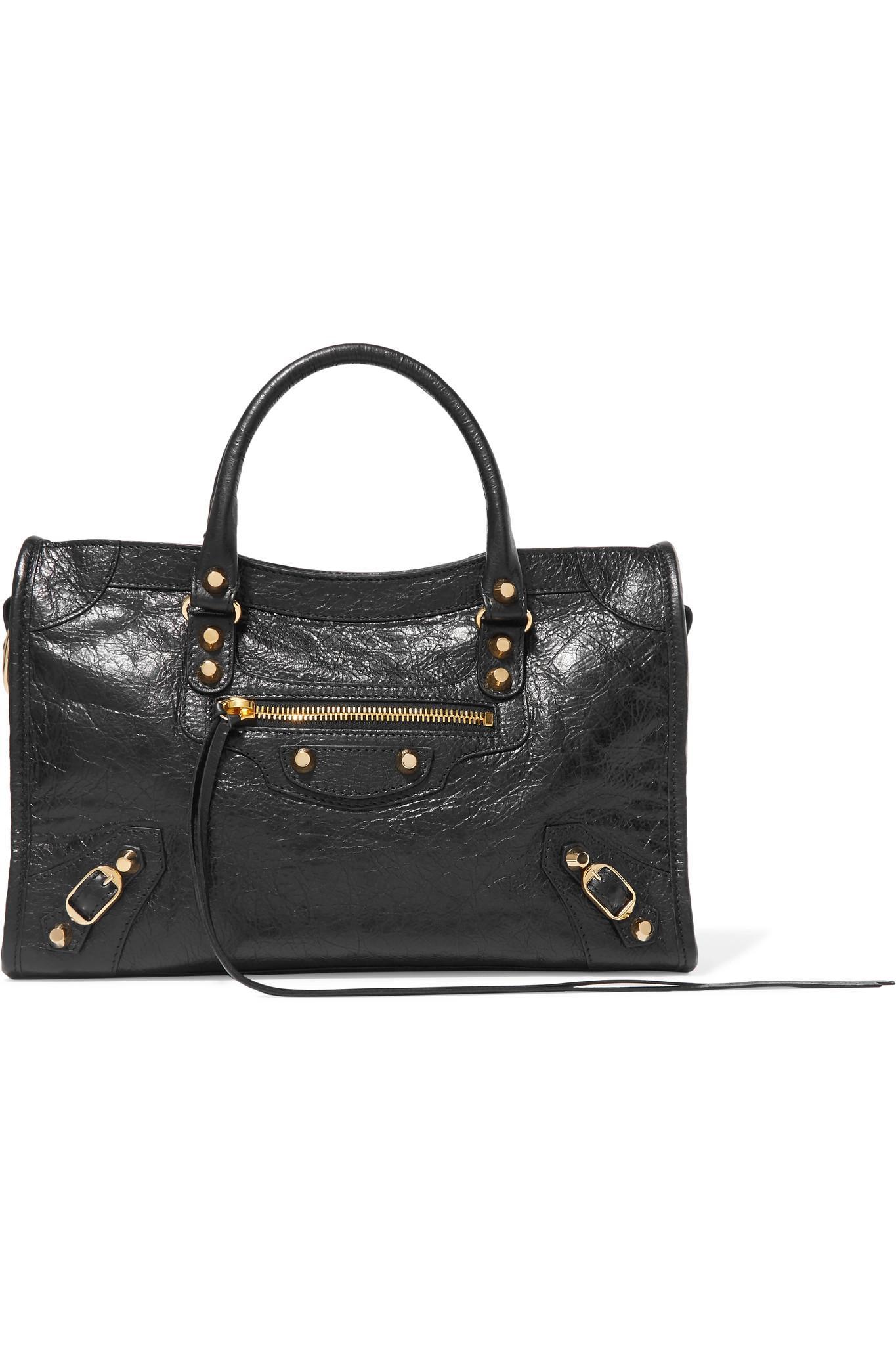 b1b7d6539fa3 Balenciaga Classic City Textured-leather Tote in Black - Lyst