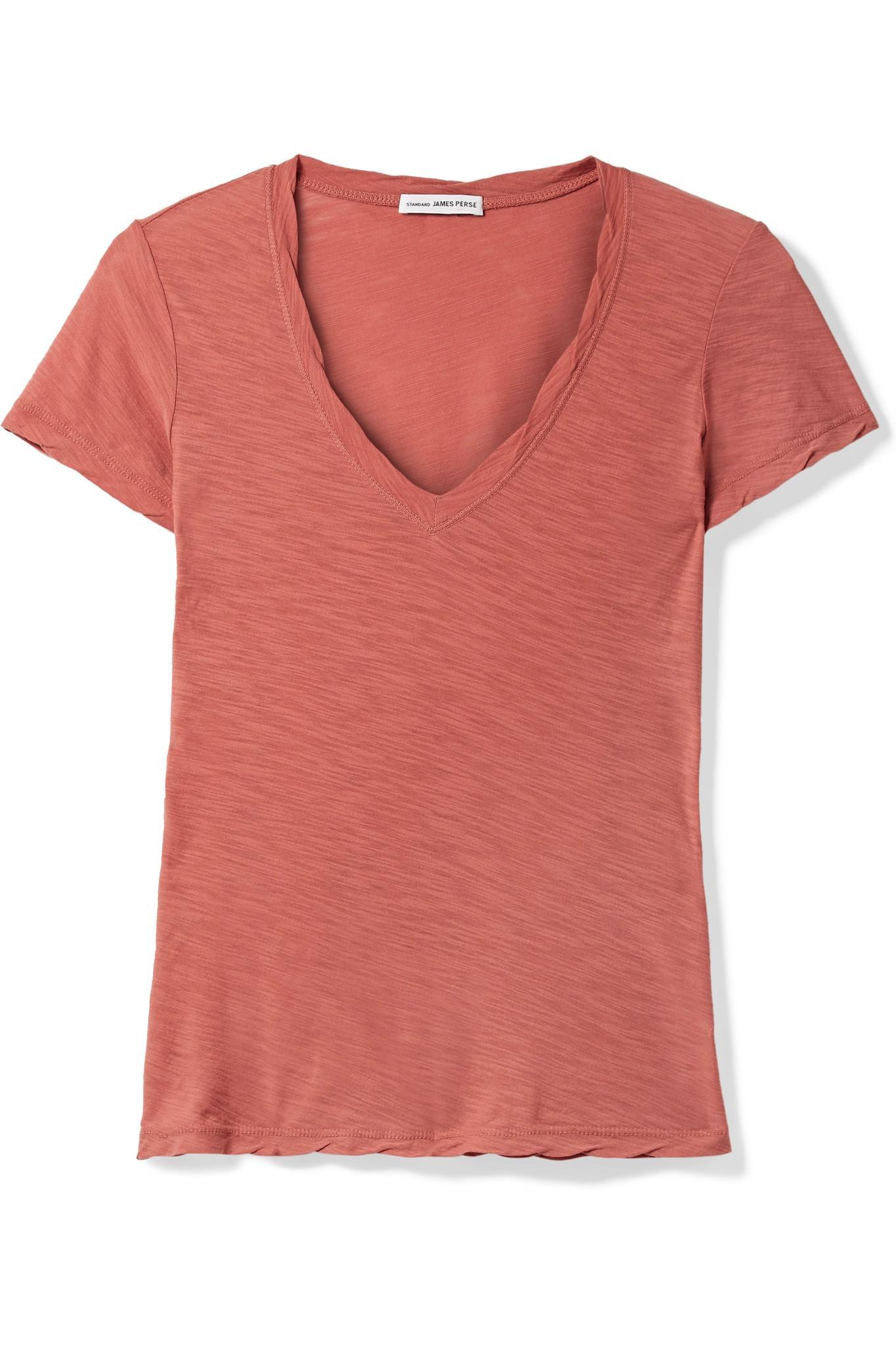 Slub Cotton-jersey T-shirt - Pink James Perse Real vWKb00