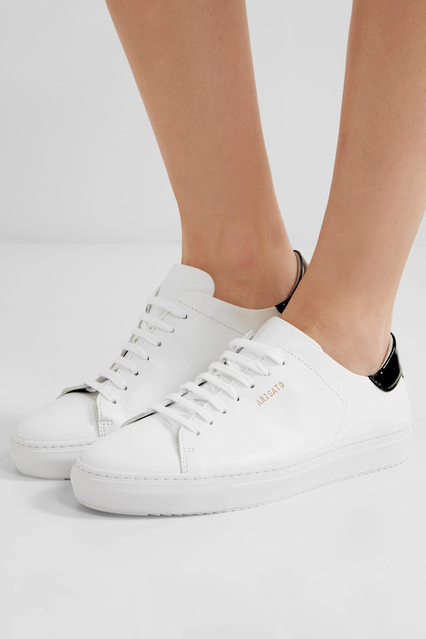 Axel ArigatoWomen's White Clean 90 Patent-trimmed Leather Sneakers
