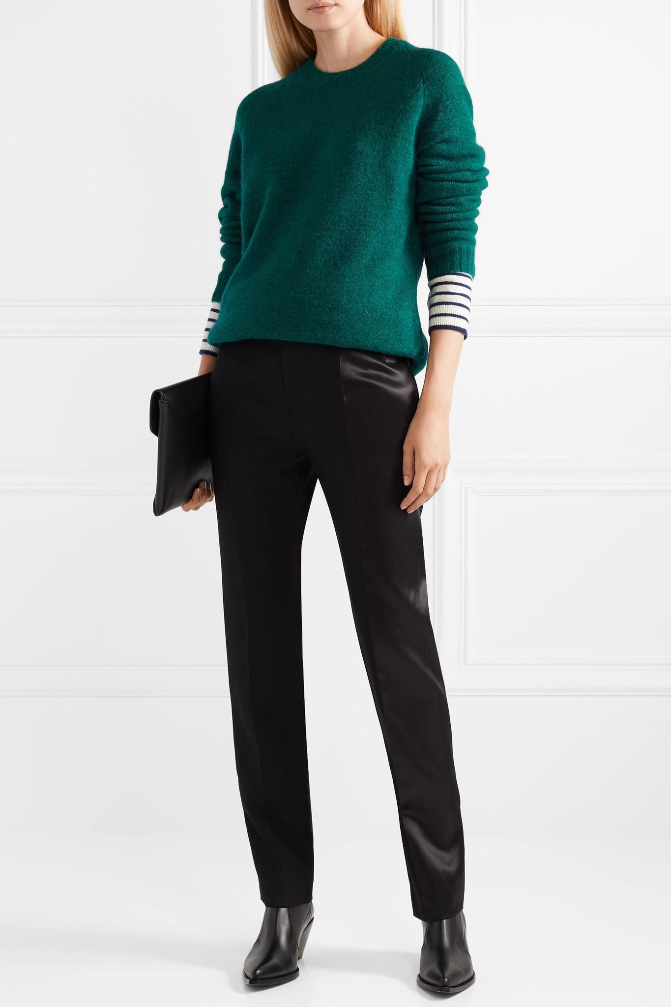 64cfb32902 Haider Ackermann - Green Striped Wool-blend Sweater - Lyst. View fullscreen