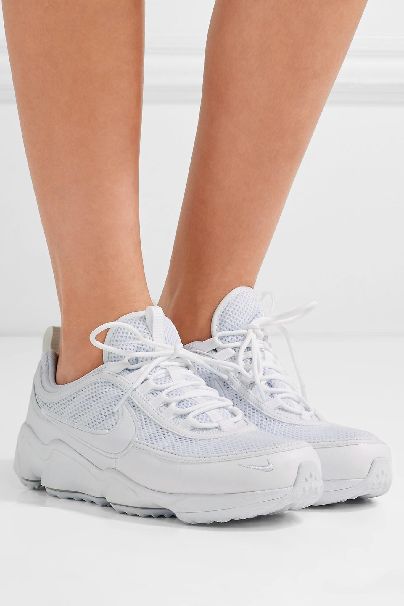 14665a5c4ce5 Lyst - Nike Air Zoom Spiridon Ultra Leather And Mesh Sneakers in White