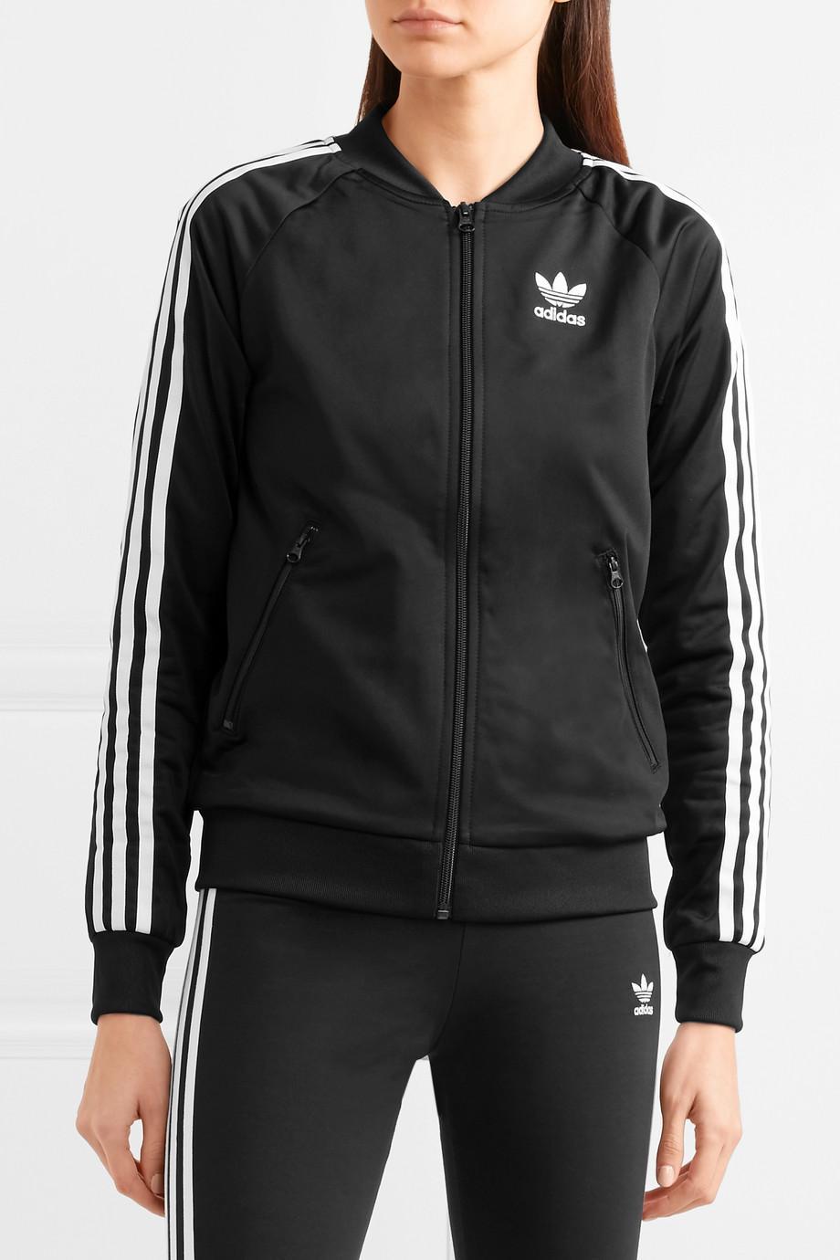 Lyst adidas Originals Superstar Satin Jersey Chaqueta en negro