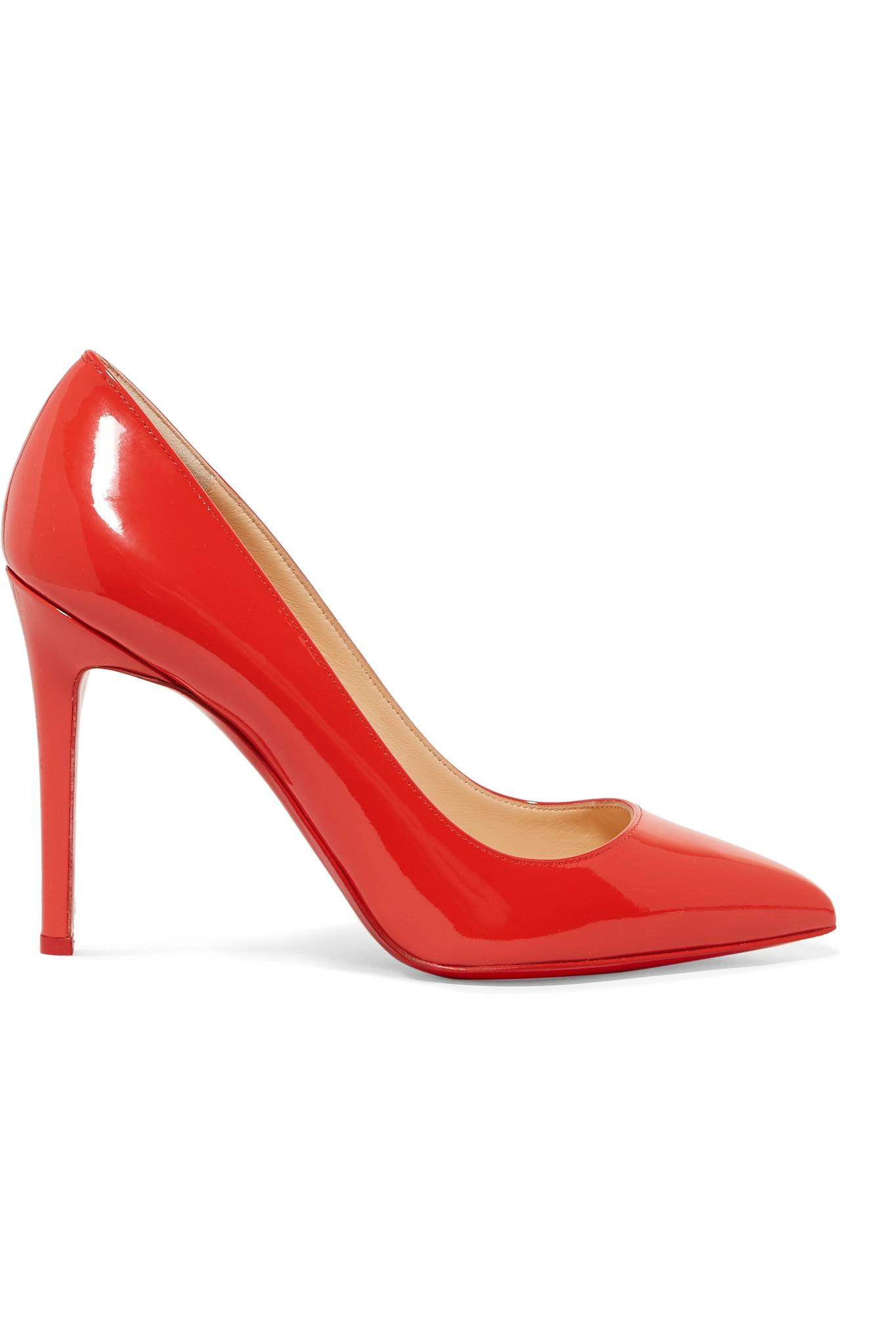 Pigalle 100 Patent-leather Pumps - Red Christian Louboutin KiB7EMA