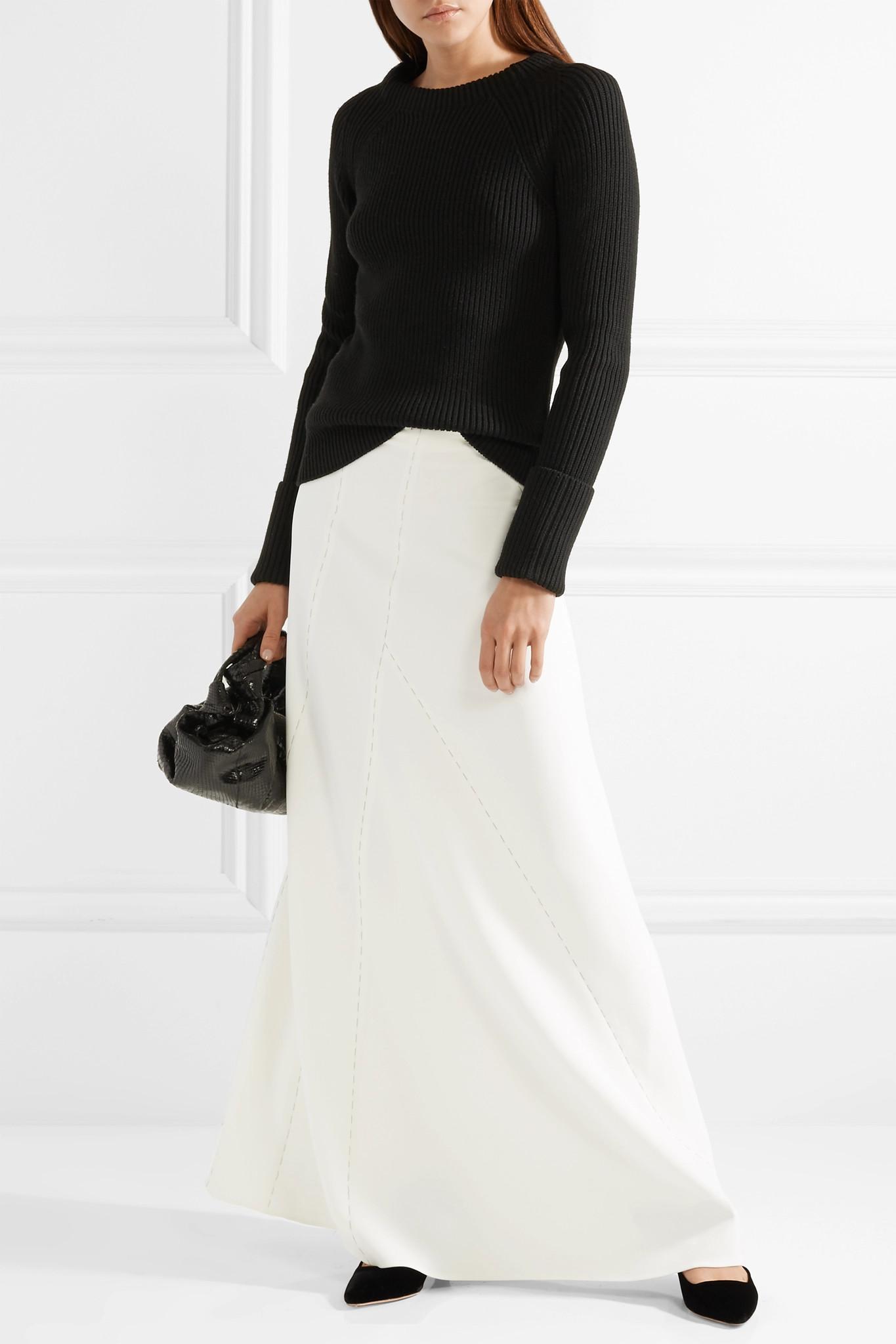 37bdf7e5e18 Lyst - The Row Farrow Paneled Cady Maxi Skirt in White