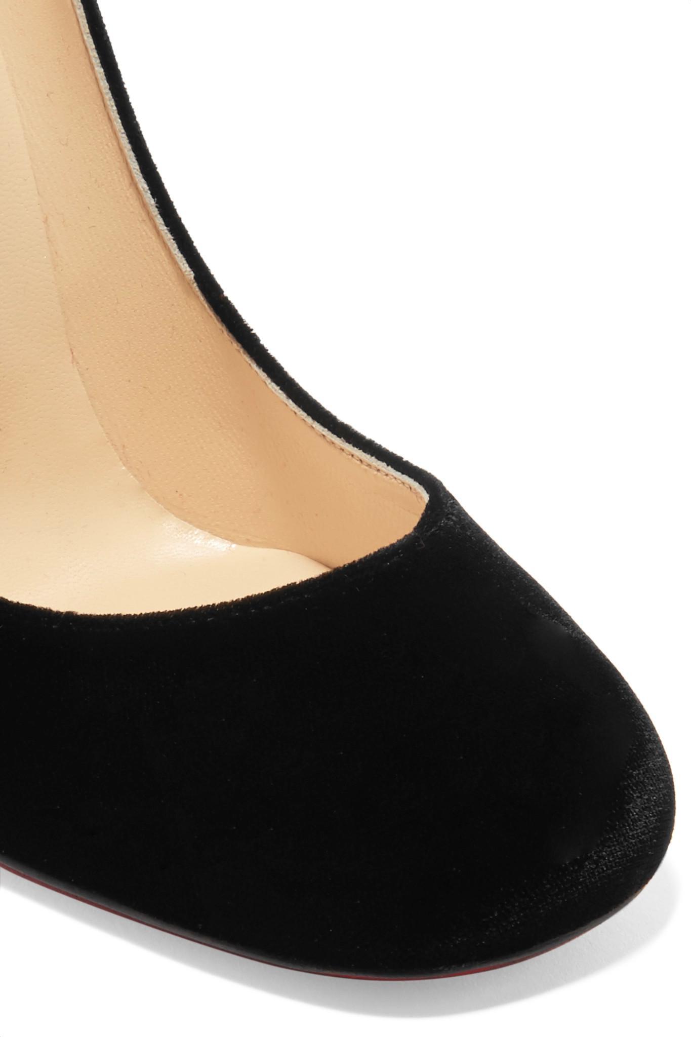06e6d3d615ff Christian Louboutin - Black Cadrilla Corazon 100 Appliquéd Velvet Pumps -  Lyst. View fullscreen