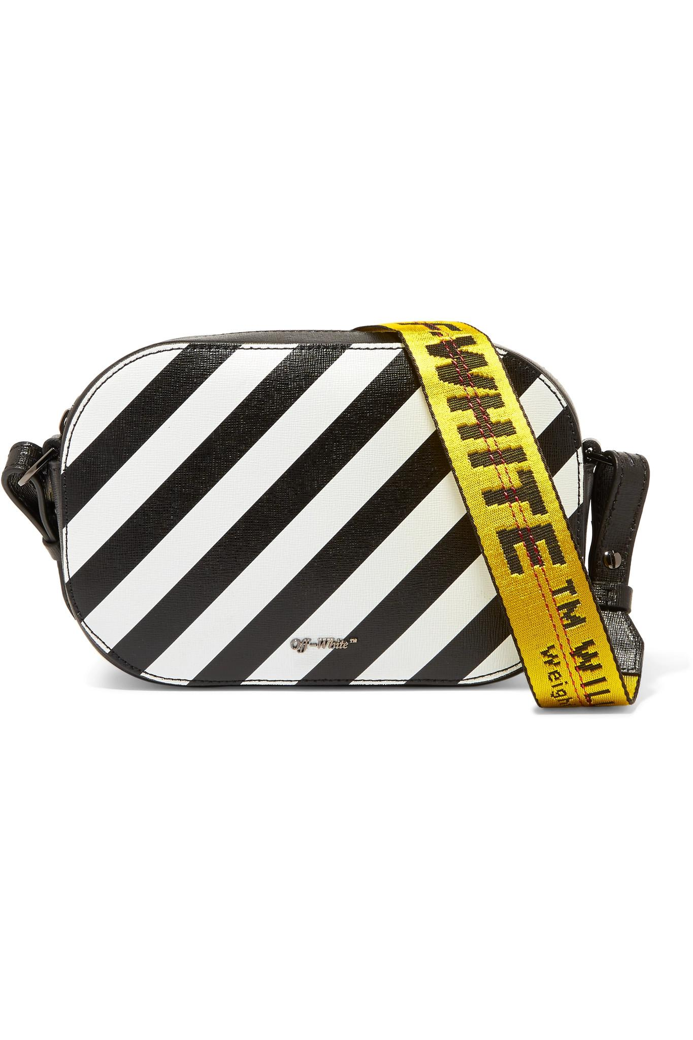 e77b6cb902cd Off-White c o Virgil Abloh Striped Textured-leather Camera Bag in ...