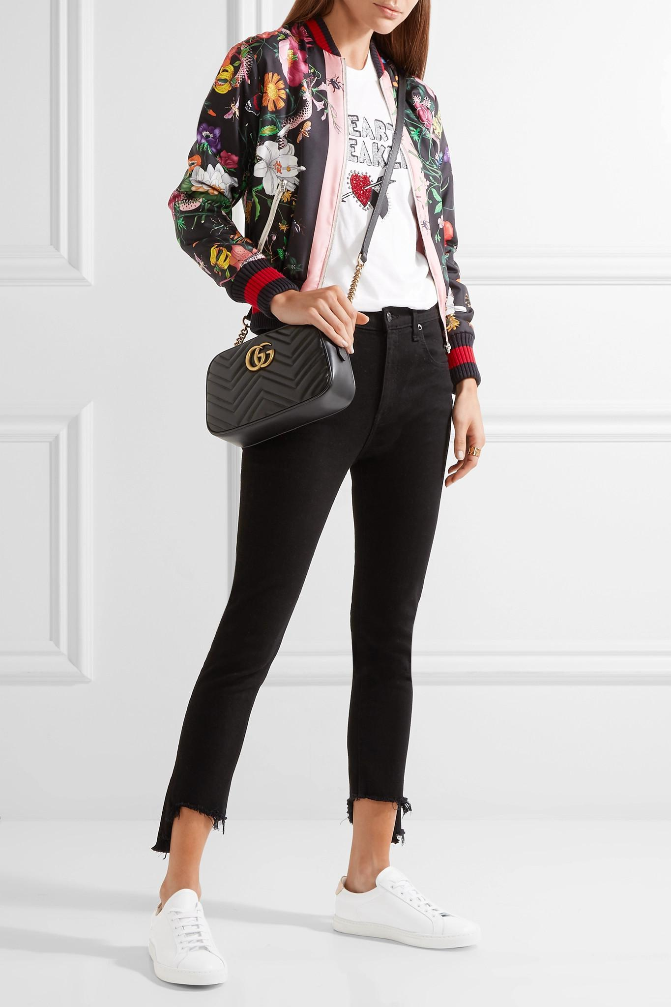 c3792cd604aee9 ... Gg Marmont Camera Small Quilted Leather Shoulder Bag - Lyst. View  fullscreen