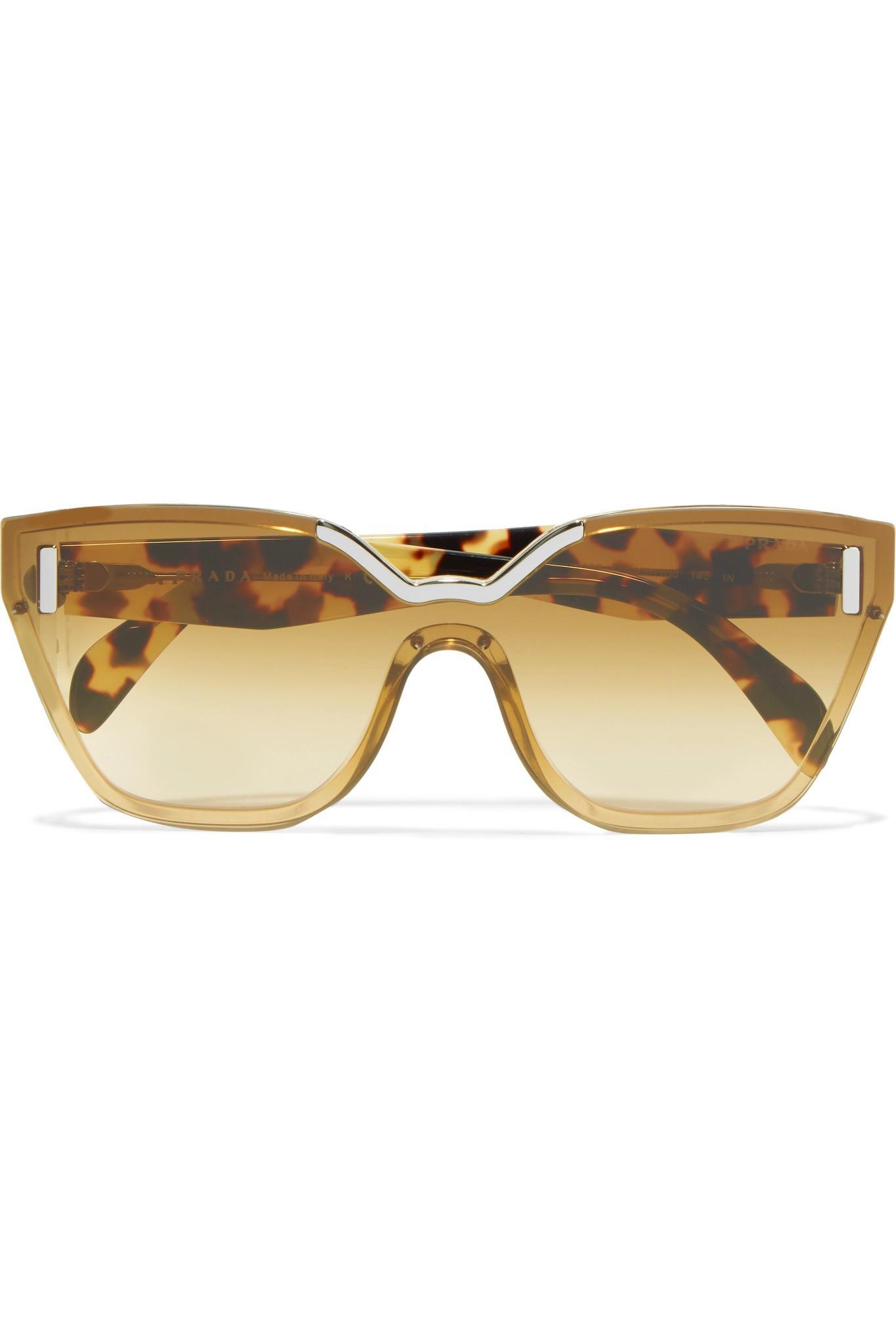 09742b146056 ... australia prada cat eye tortoiseshell acetate and silver tone sunglasses  lyst 1830f c2001