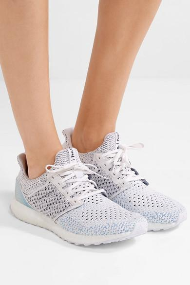 lowest price 5fdfb 05813 Adidas Originals White Parley Ultra Boost Clima Primeknit Sneakers