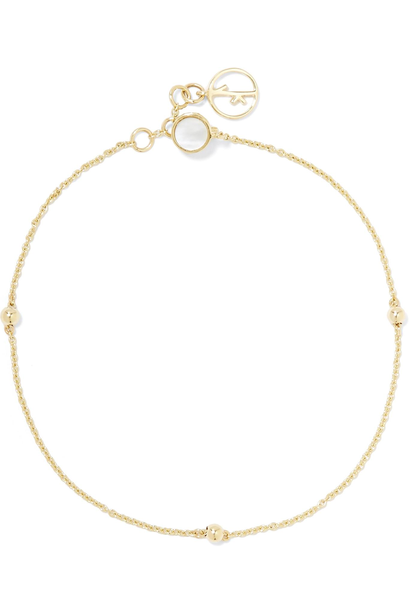 Anissa Kermiche 14-karat Gold Pearl Bracelet ncVaCFG4W