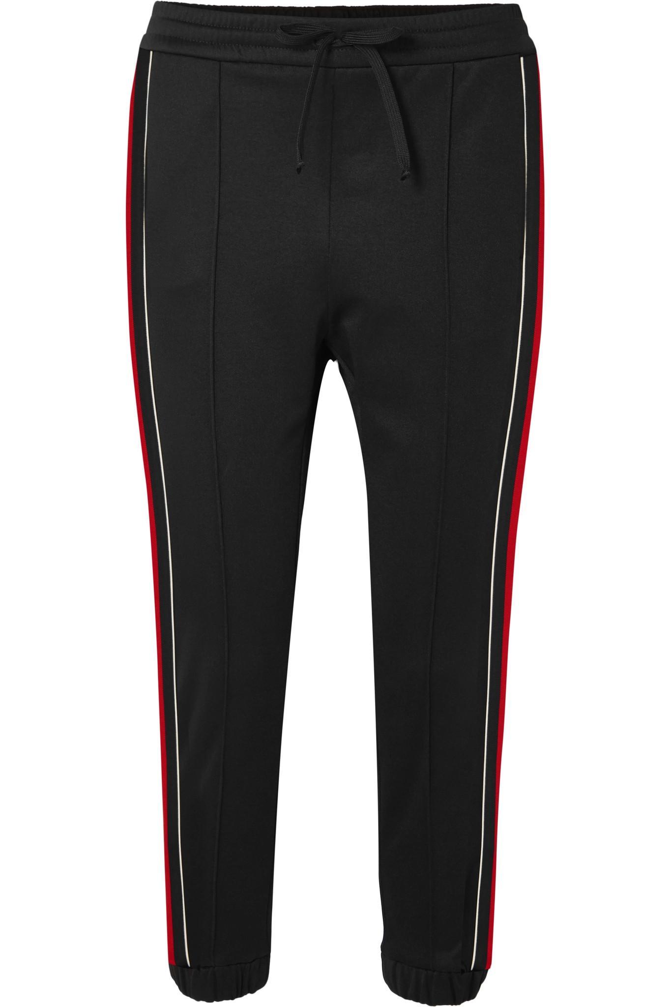 4033fd822eea Gucci. Women s Black Striped Jersey Track Trousers