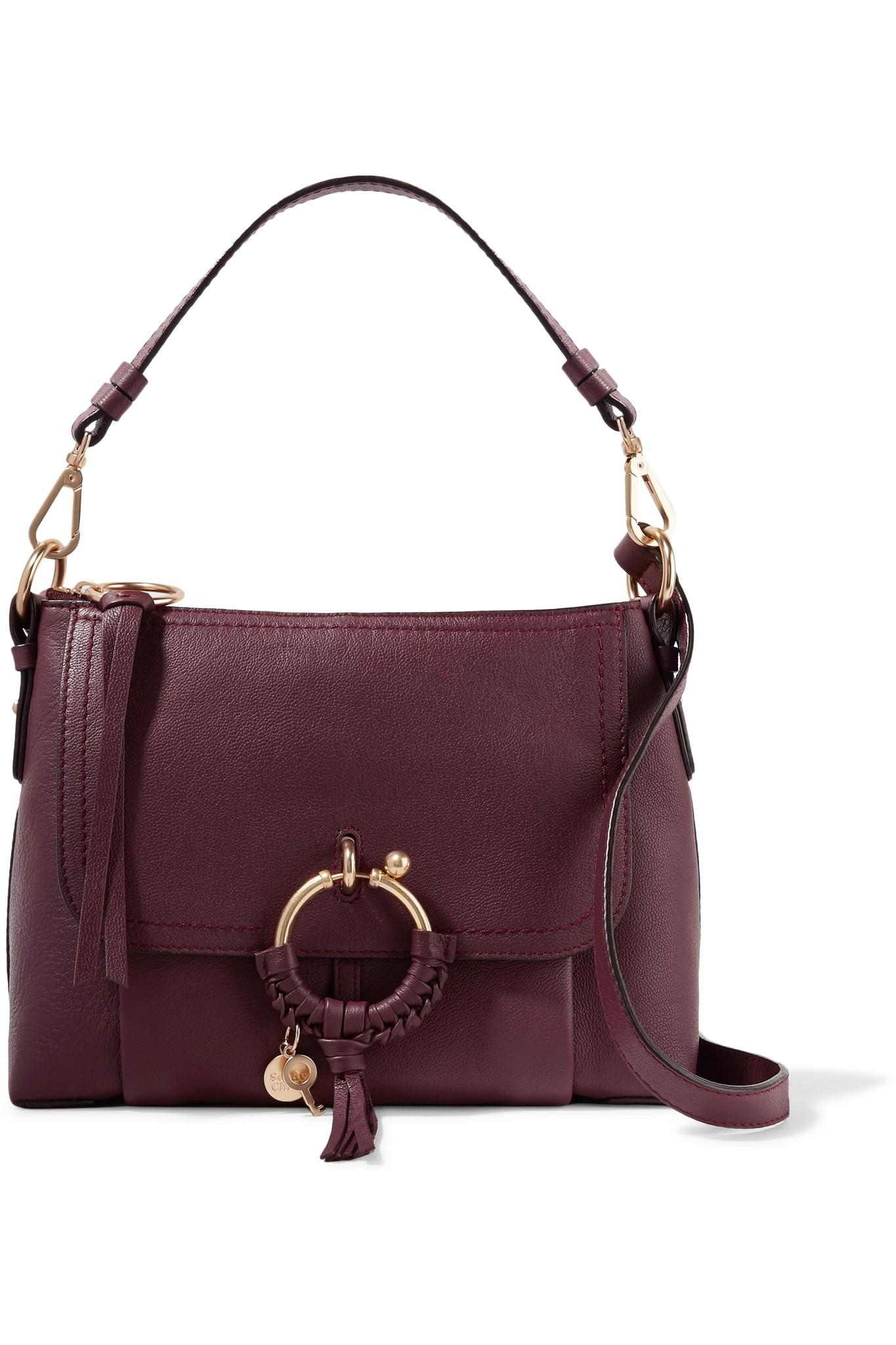 9d3bd82a64 Lyst - See By Chloé Joan Small Textured-leather Shoulder Bag in Purple